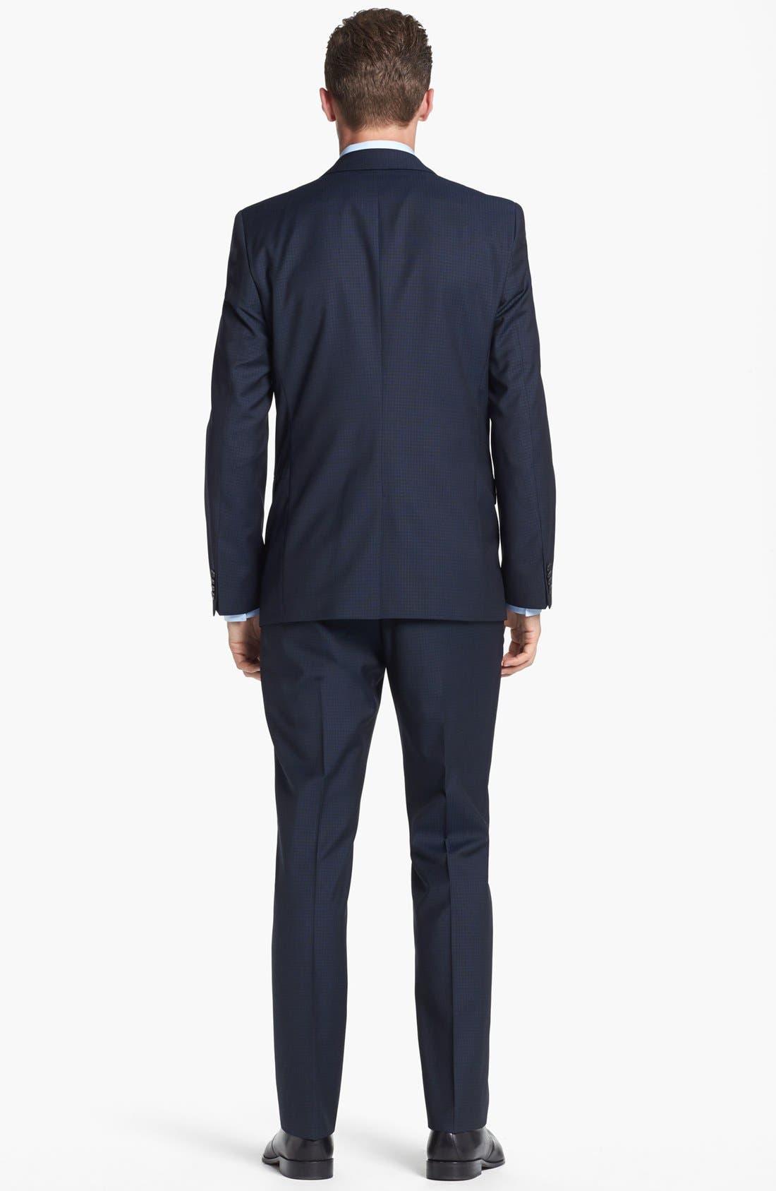Alternate Image 3  - HUGO 'Astro/Hill' Extra Trim Fit Check Suit