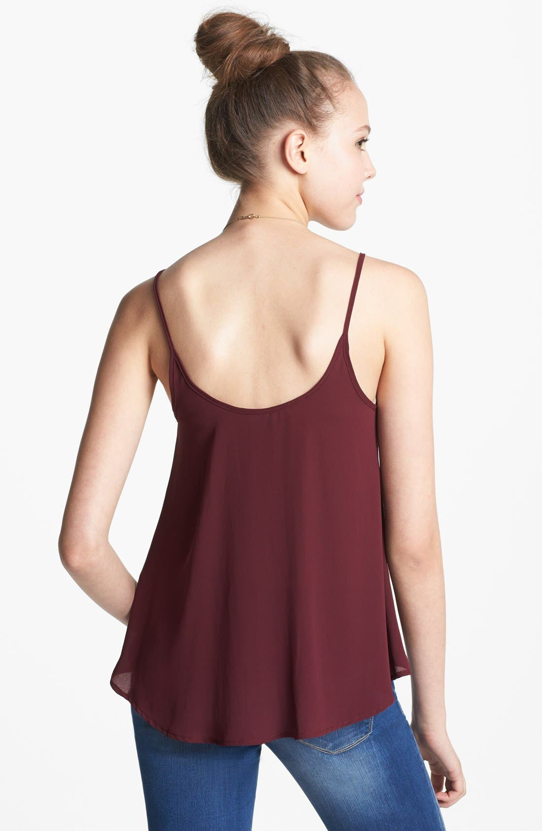 Alternate Image 2  - Lush Chiffon Camisole (Juniors)