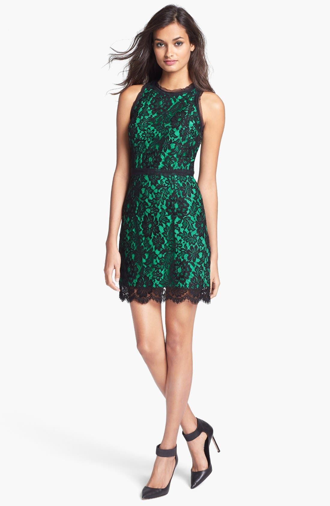 Alternate Image 1 Selected - Milly Sleeveless Lace Dress