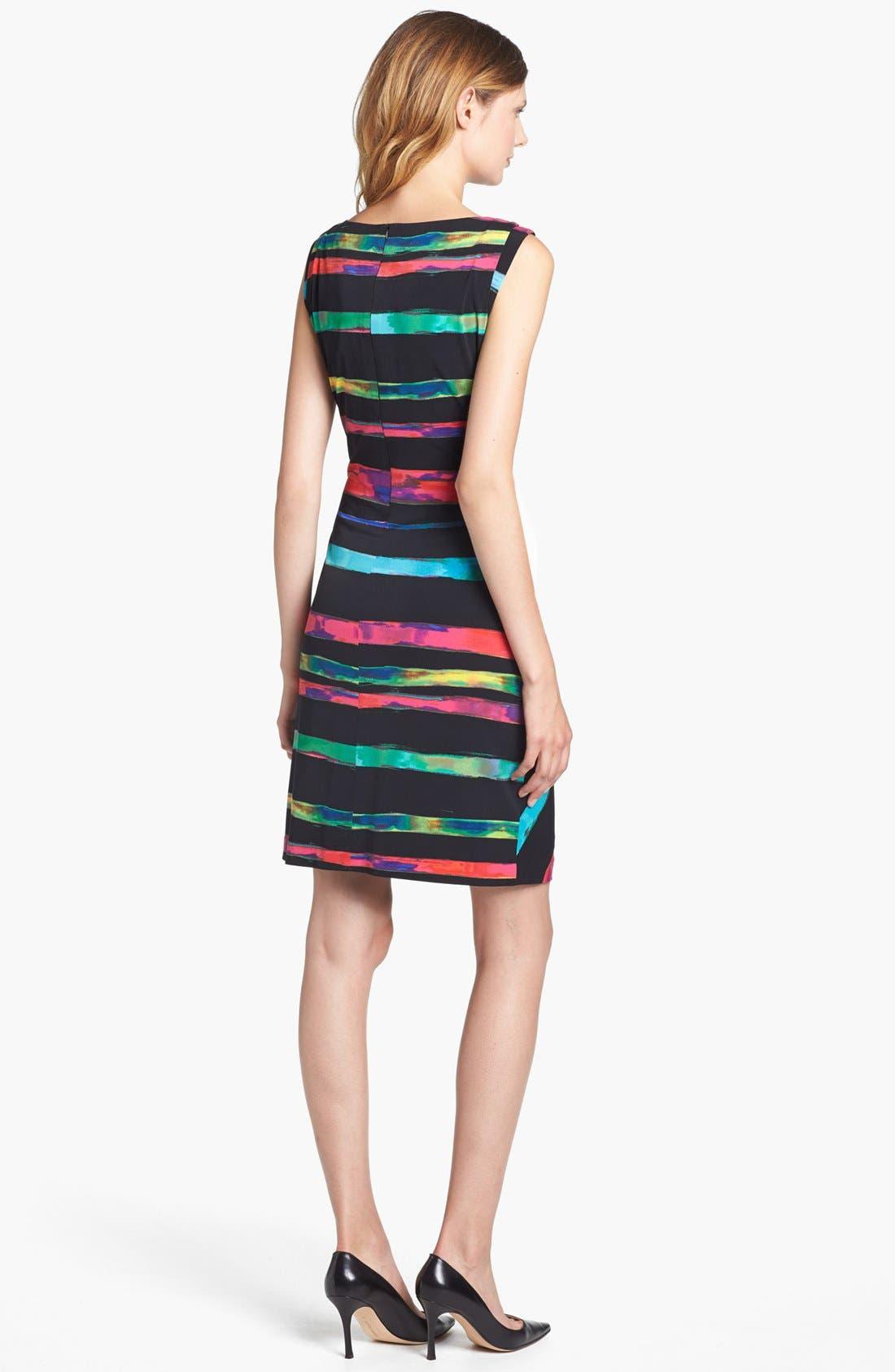 Alternate Image 2  - Tahari Stripe Matte Jersey Sheath Dress