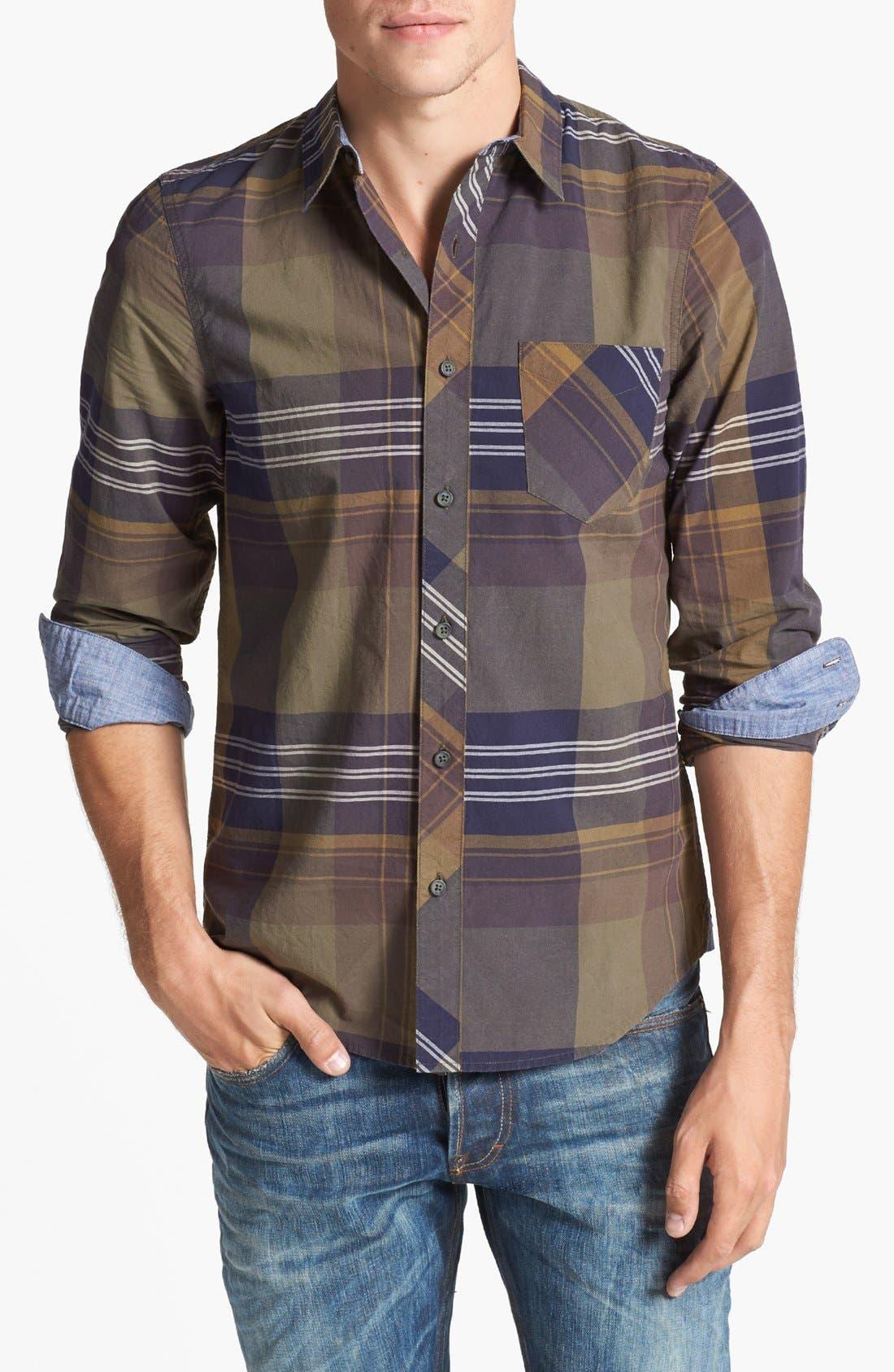 Alternate Image 1 Selected - 1901 Plaid Poplin Shirt