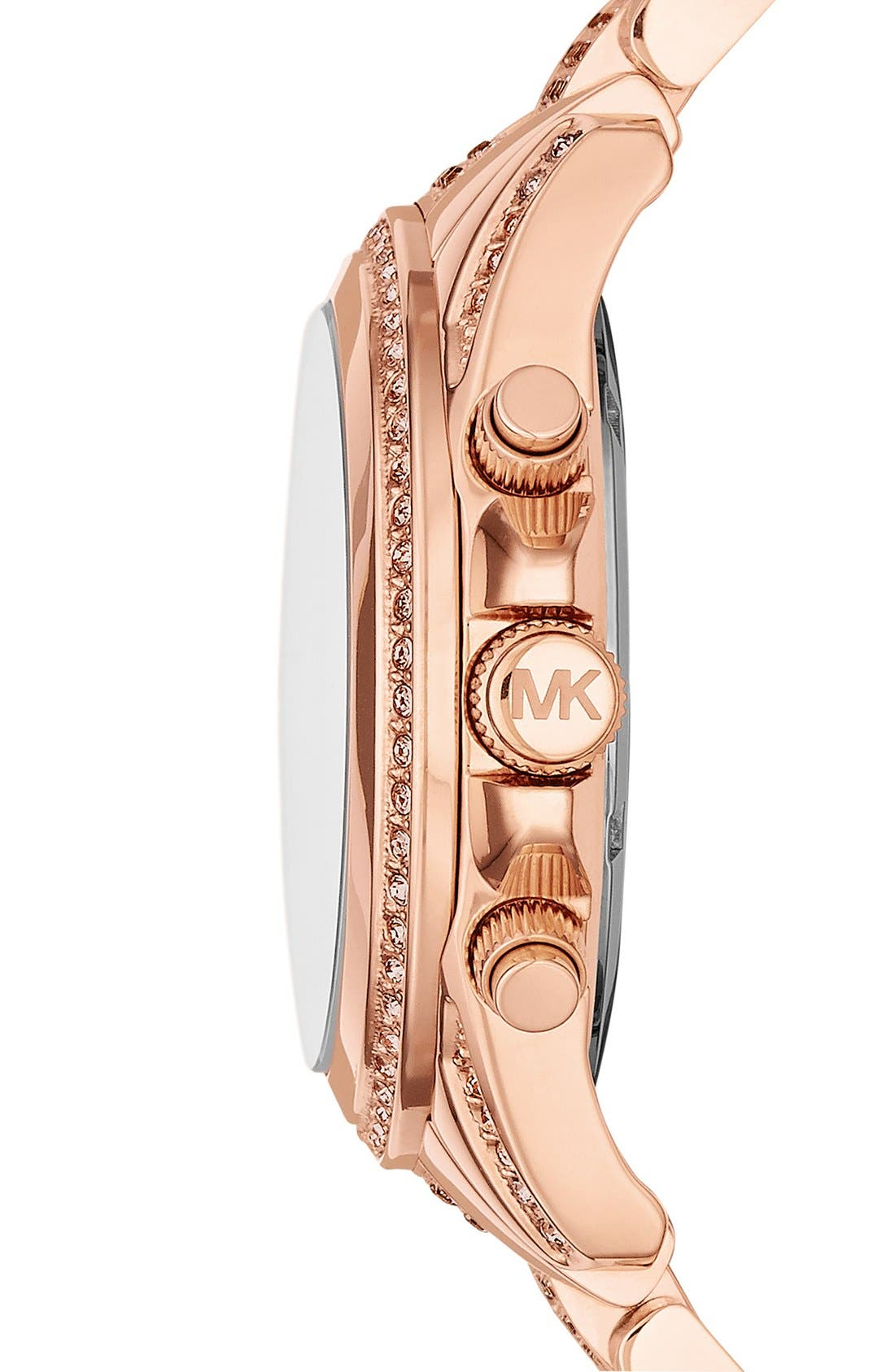 Alternate Image 3  - Michael Kors 'Blair' Pavé Crystal Bracelet Watch, 39mm