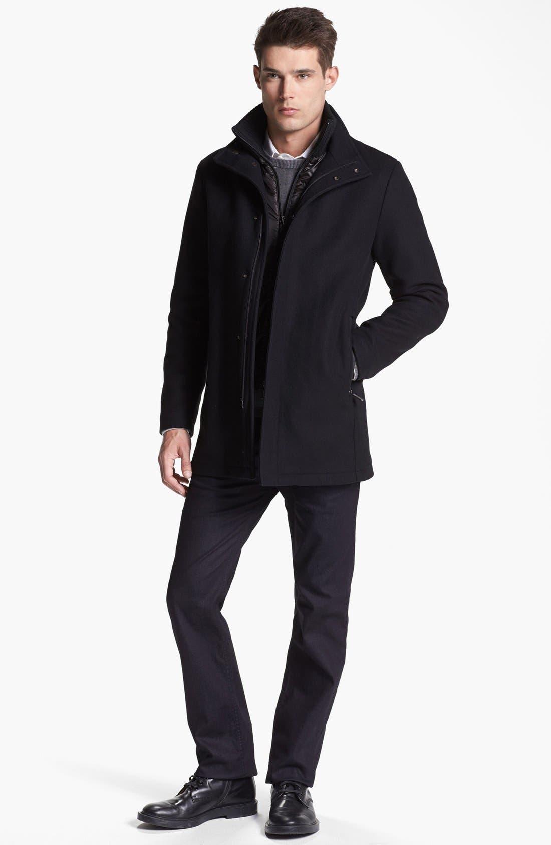 Alternate Image 4  - Armani Collezioni Wool Blend Winter Jacket