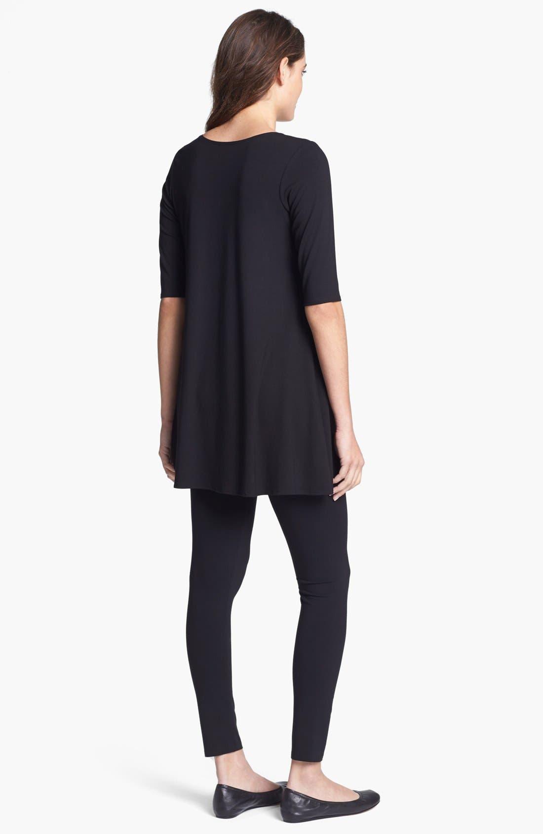 Alternate Image 3  - Eileen Fisher Scoop Neck Jersey Tunic (Regular & Petite)