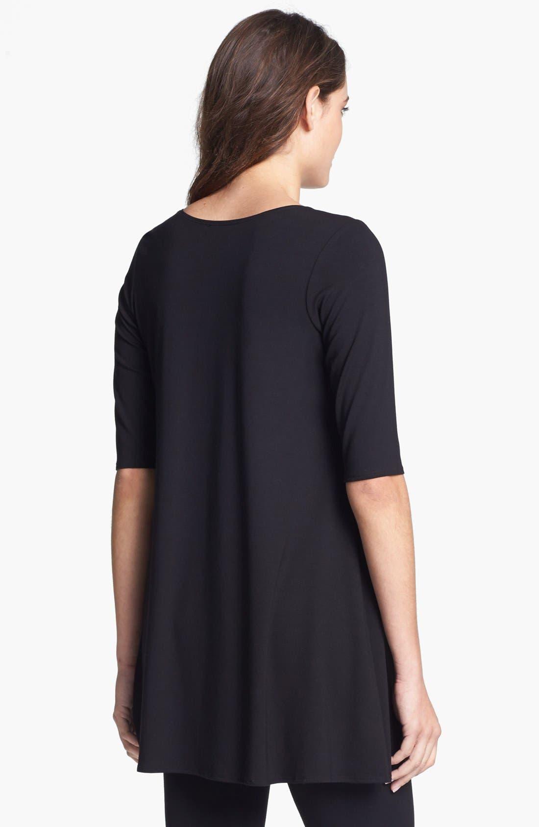 Alternate Image 2  - Eileen Fisher Scoop Neck Jersey Tunic (Regular & Petite)