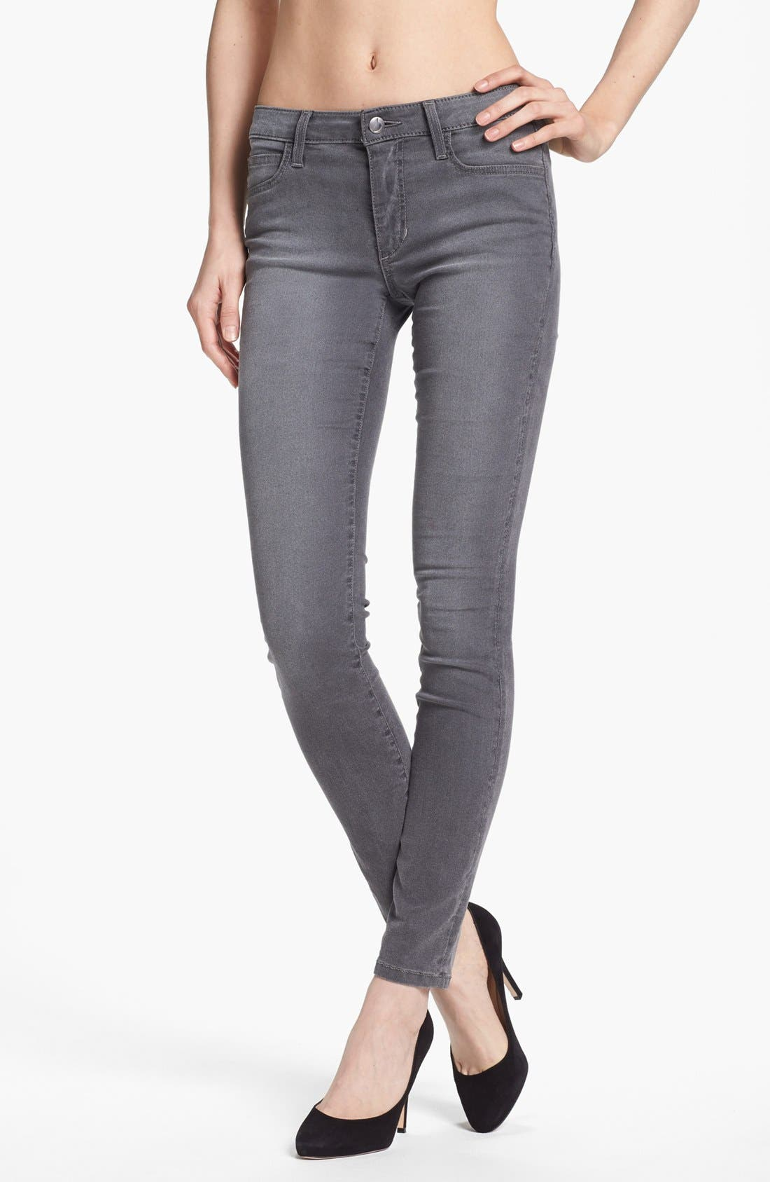 Alternate Image 1 Selected - Joe's Skinny Ankle Jeans (Grey)