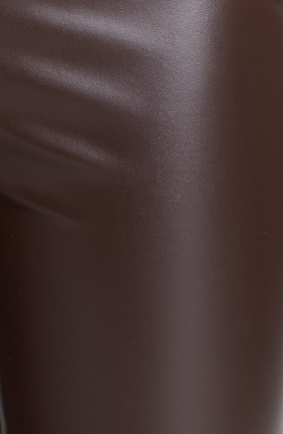 Alternate Image 3  - MICHAEL Michael Kors Faux Leather Leggings