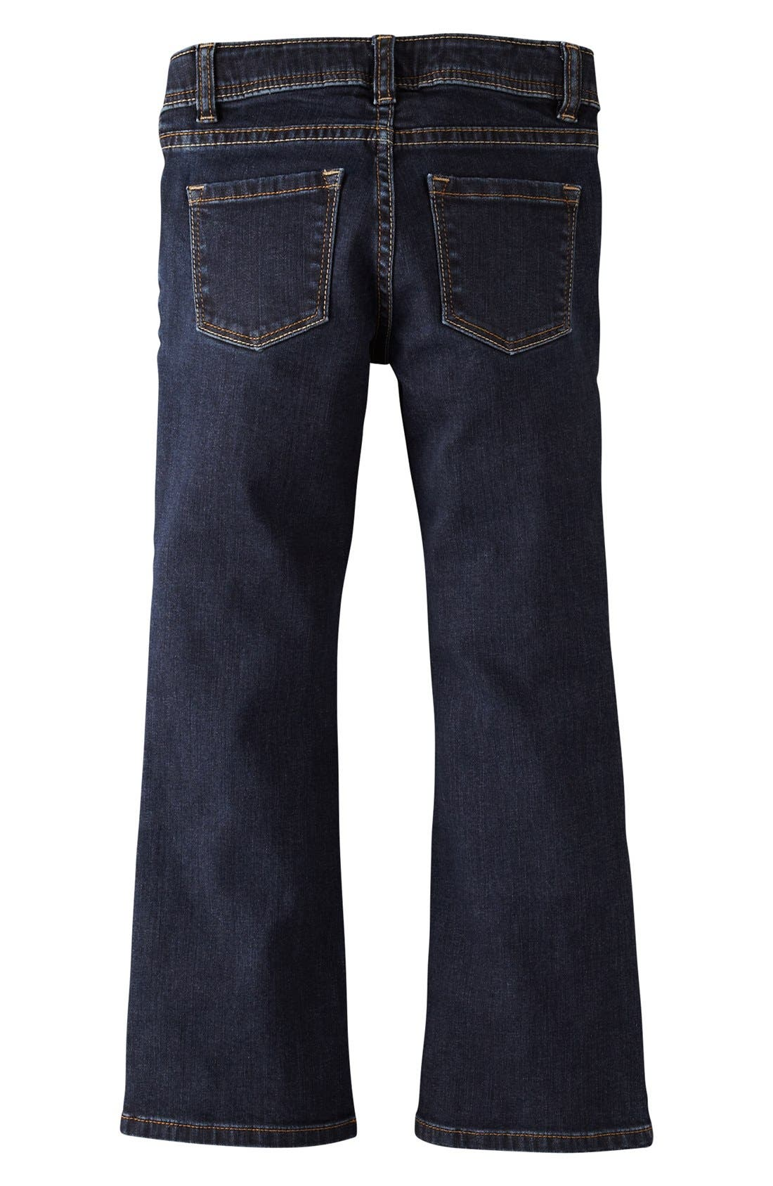 Main Image - Mini Boden Bootcut Jeans (Little Girls & Big Girls)