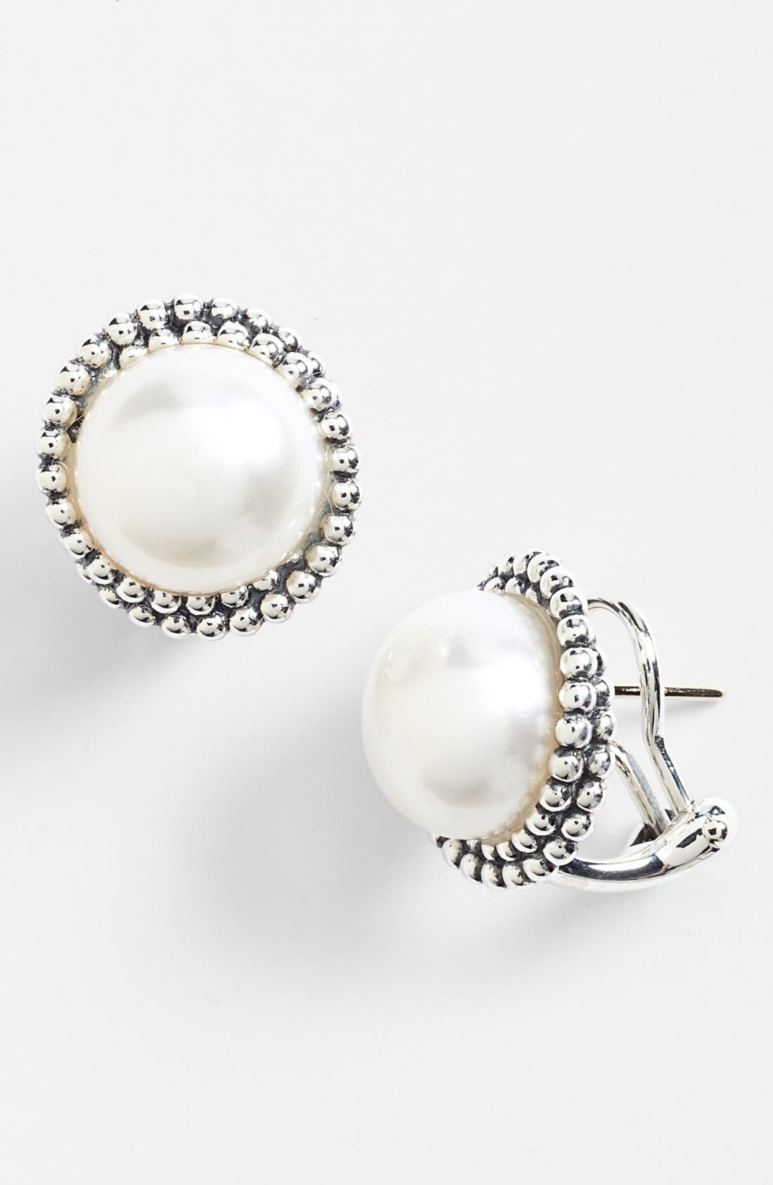 Main Image - Lagos 'Luna' Pearl Stud Earrings