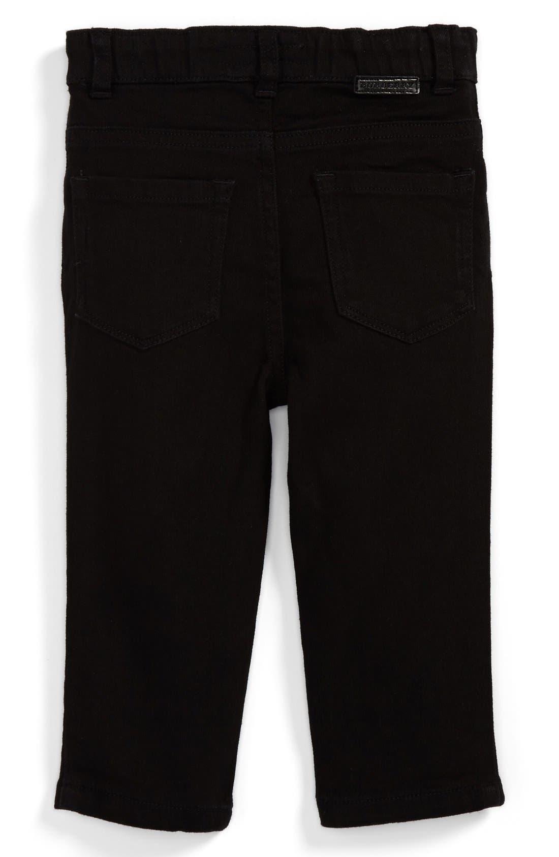 Main Image - Burberry 'Langston' Skinny Leg Jeans (Baby Boys)