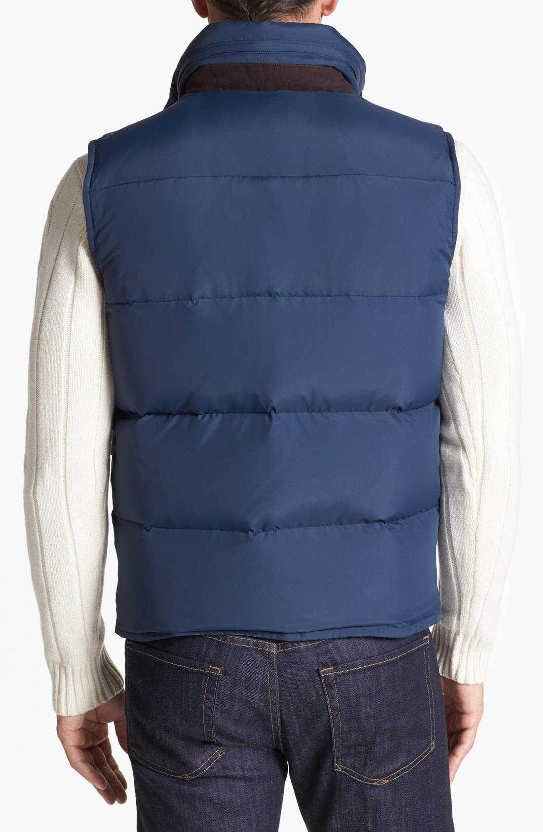 Relaxed Fit Vest,                             Alternate thumbnail 2, color,                             Navy