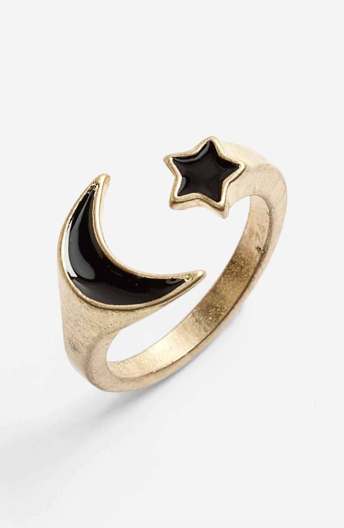 Main Image - Carole Moon & Star Wrap Ring (Juniors)