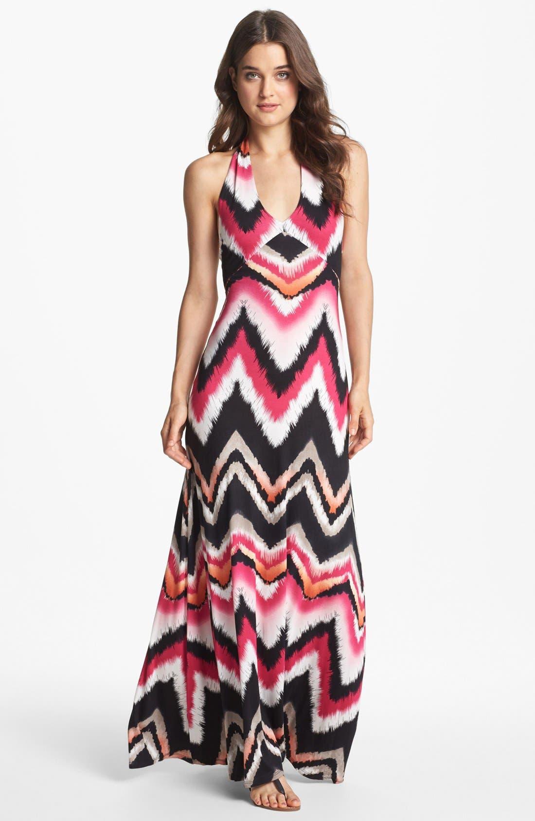 Main Image - Felicity & Coco 'Jesenia' Print Halter Maxi Dress (Nordstrom Exclusive)