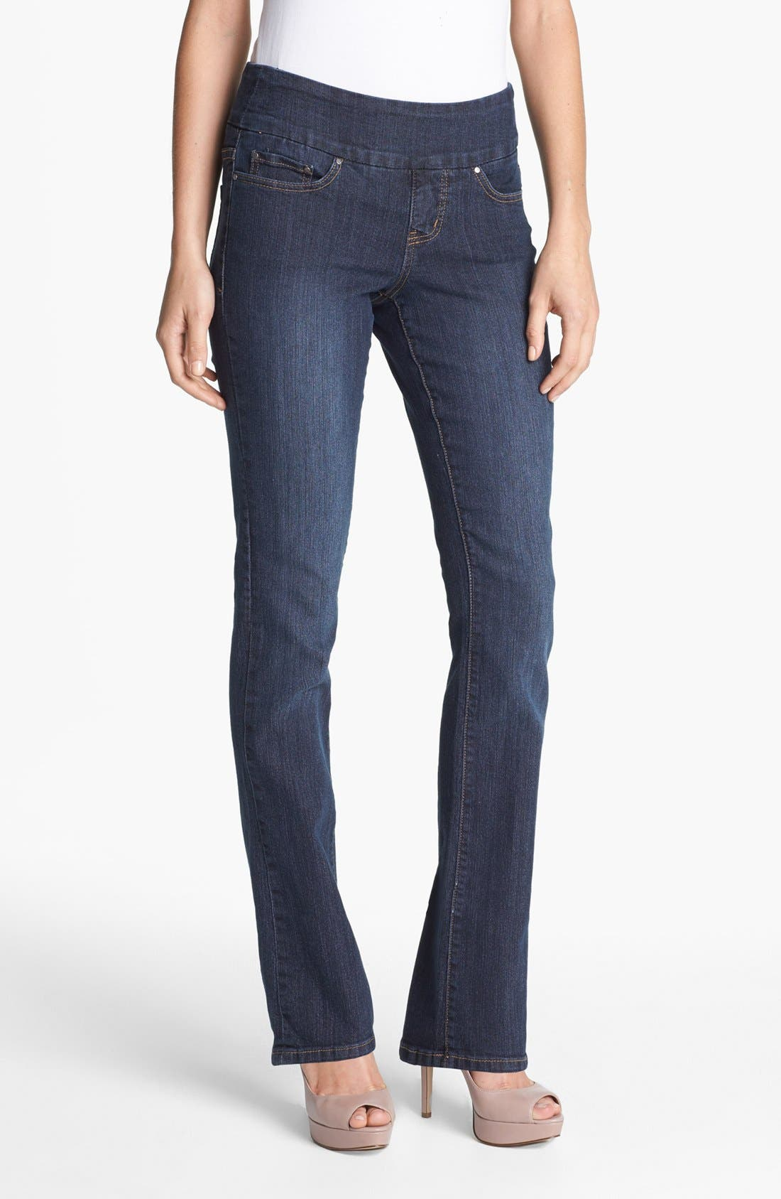 Alternate Image 1 Selected - Jag Jeans 'Paley' Pull-On Bootcut Jeans (Atlantic Blue) (Petite)