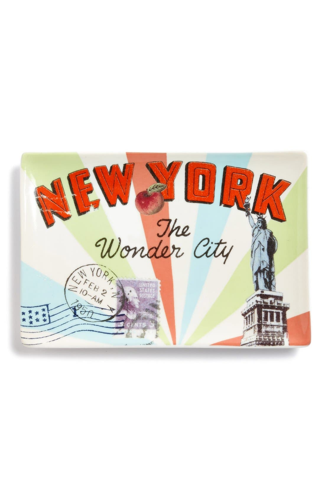Alternate Image 1 Selected - Rosanna 'Voyage - New York' Porcelain Tray