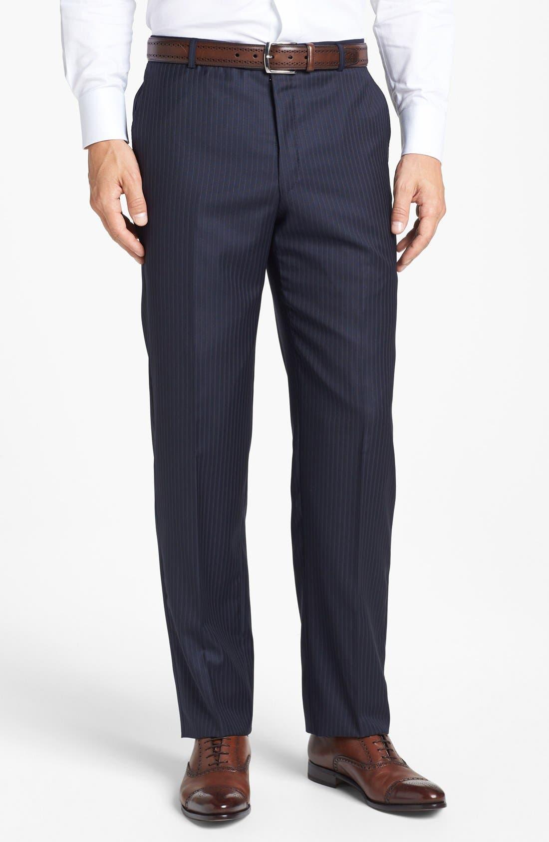 Alternate Image 5  - Hickey Freeman 'B Series' Classic Fit Stripe Suit