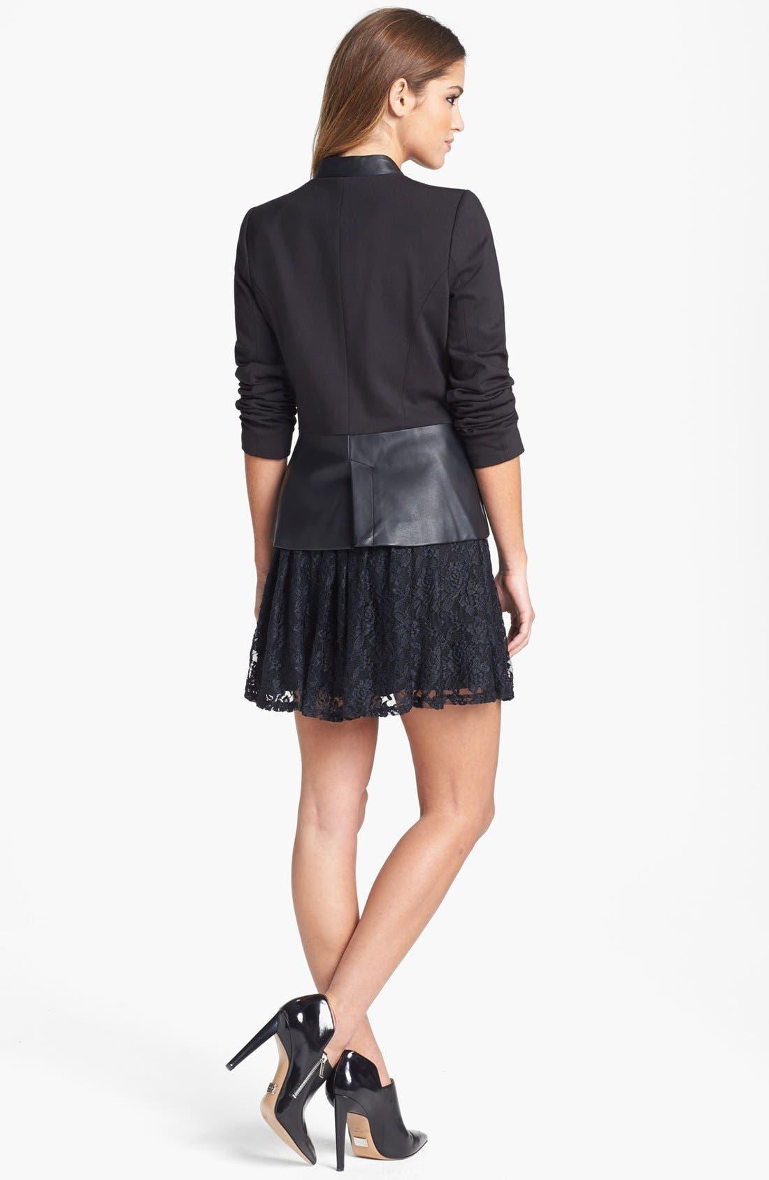 Alternate Image 4  - Jessica Simpson 'Thatcher' Ponte & Faux Leather Blazer