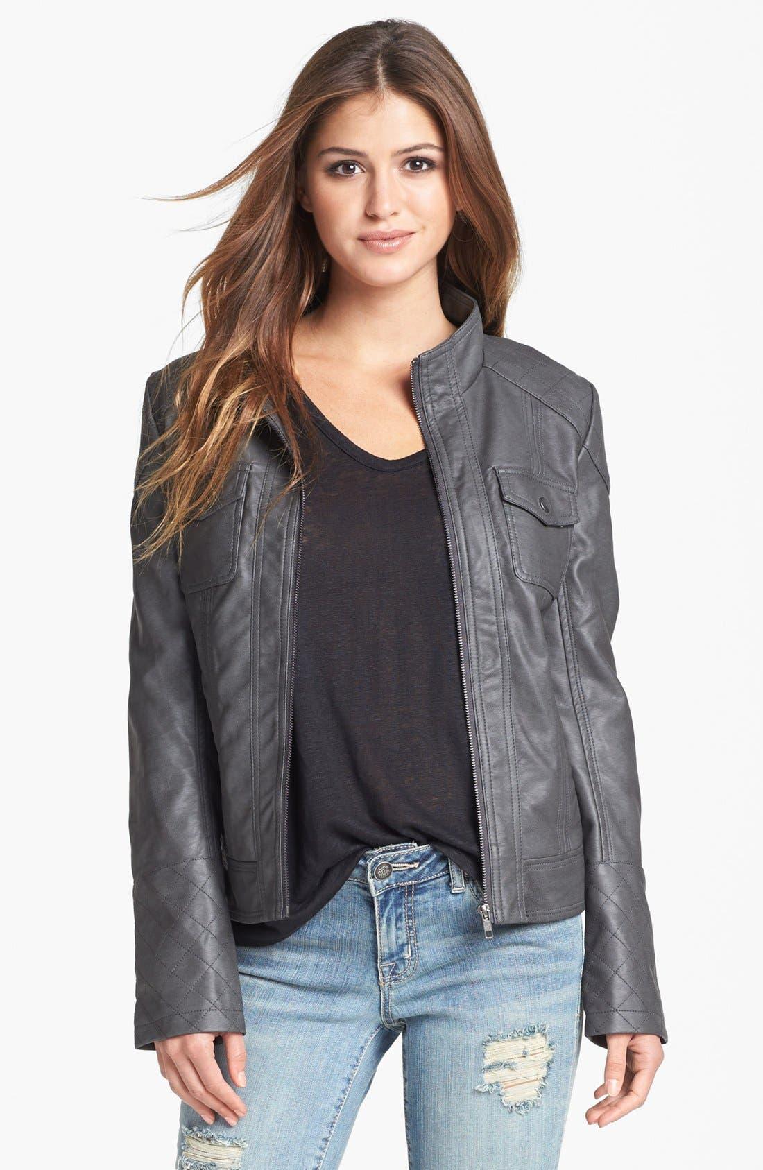 Alternate Image 3  - Jessica Simpson 'Heathcliff' Hooded Faux Leather Jacket