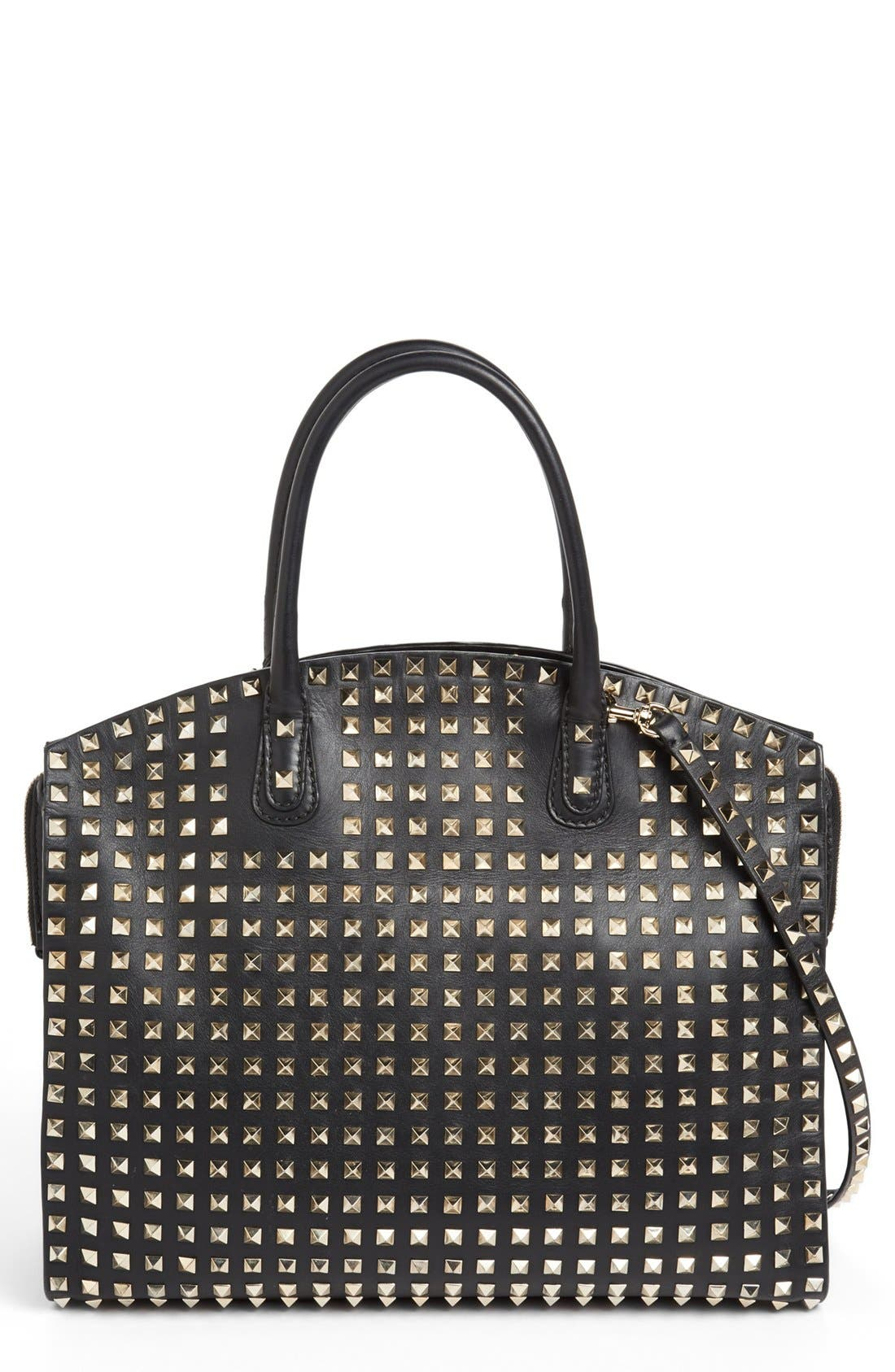 Alternate Image 1 Selected - Valentino 'Rockstud - All Over' Dome Shopper
