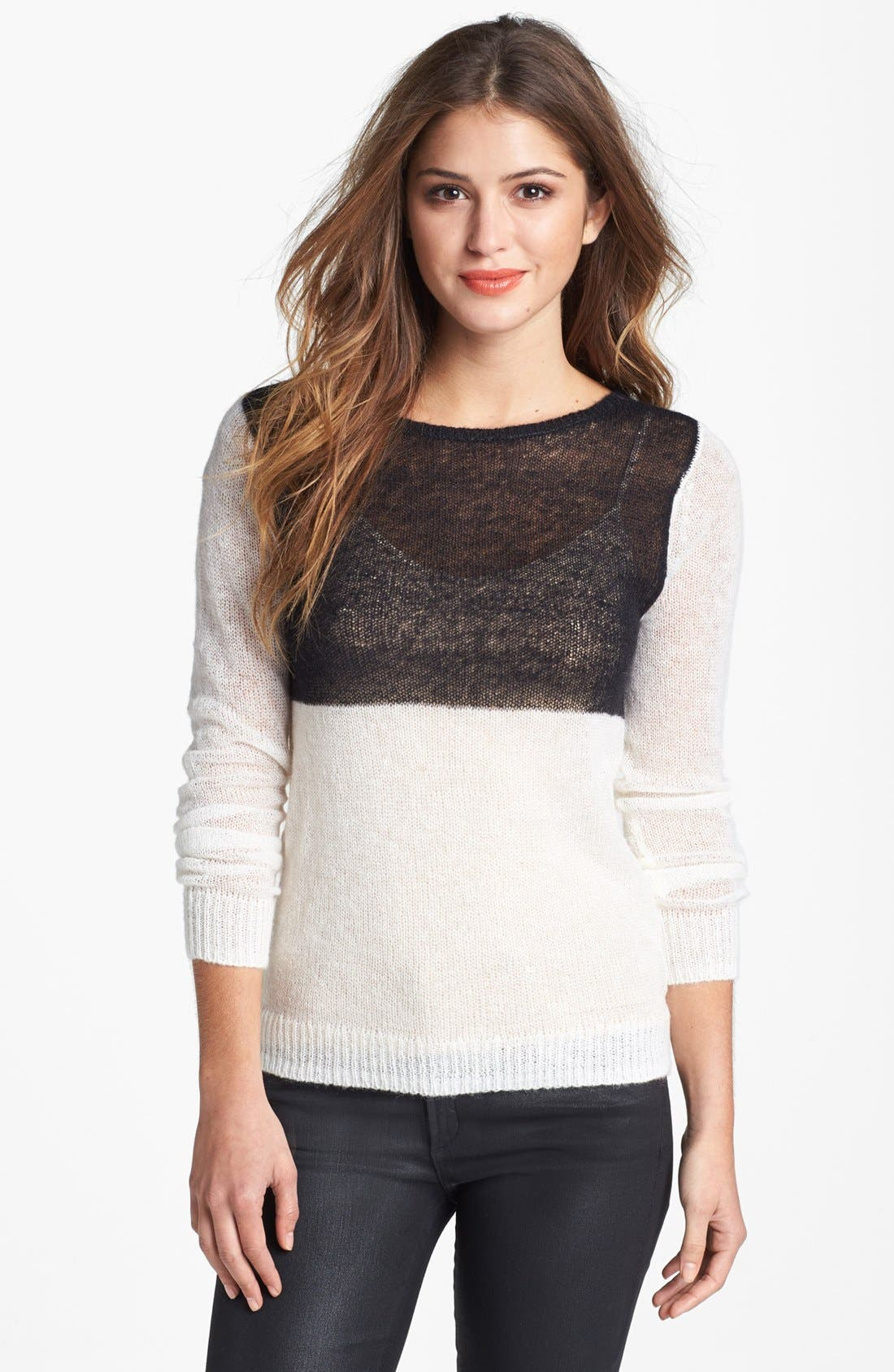 Alternate Image 1 Selected - Halogen® Colorblock Sweater