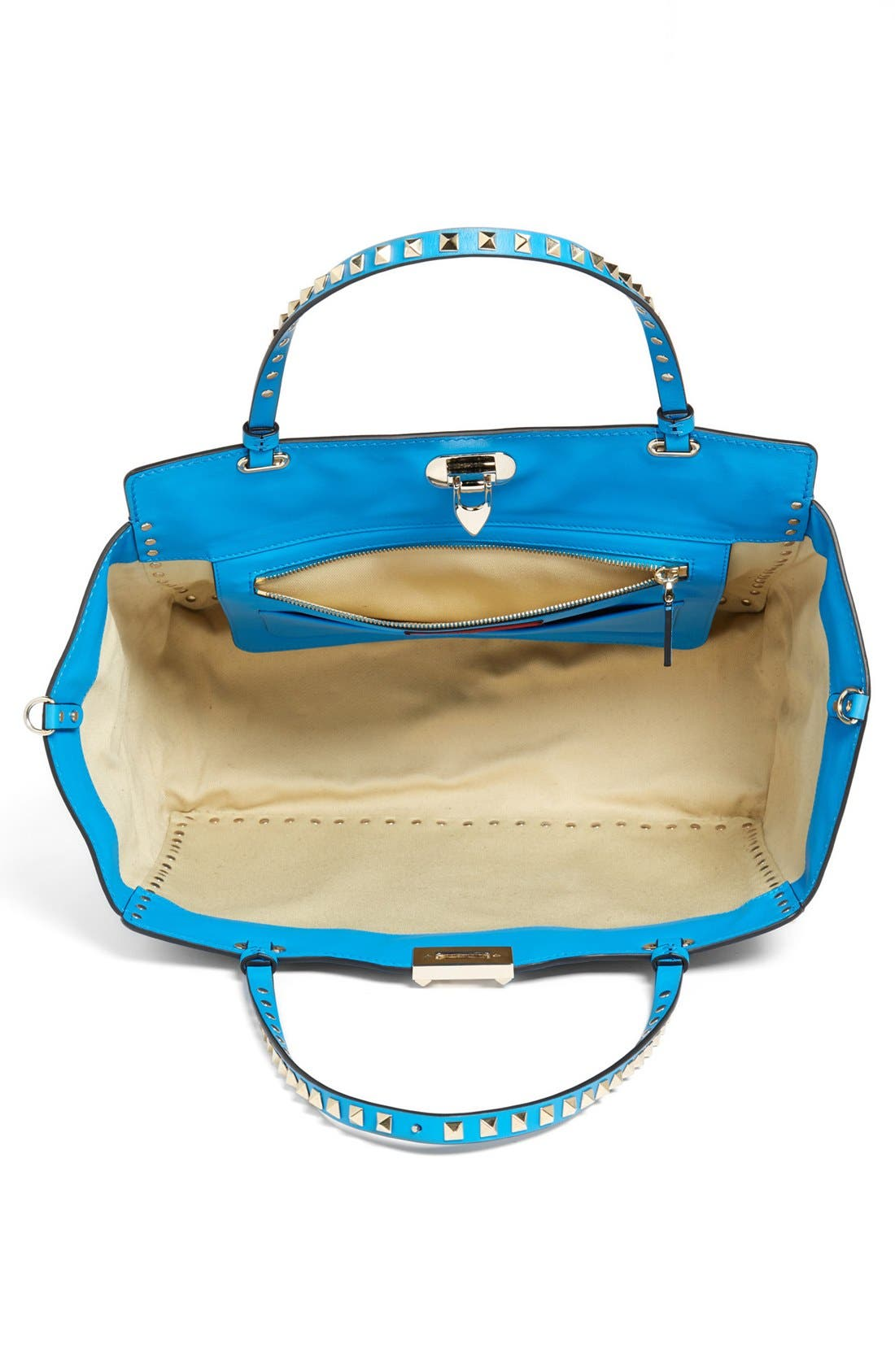 Alternate Image 3  - Valentino 'Rockstud - Medium' Double Handle Leather Tote