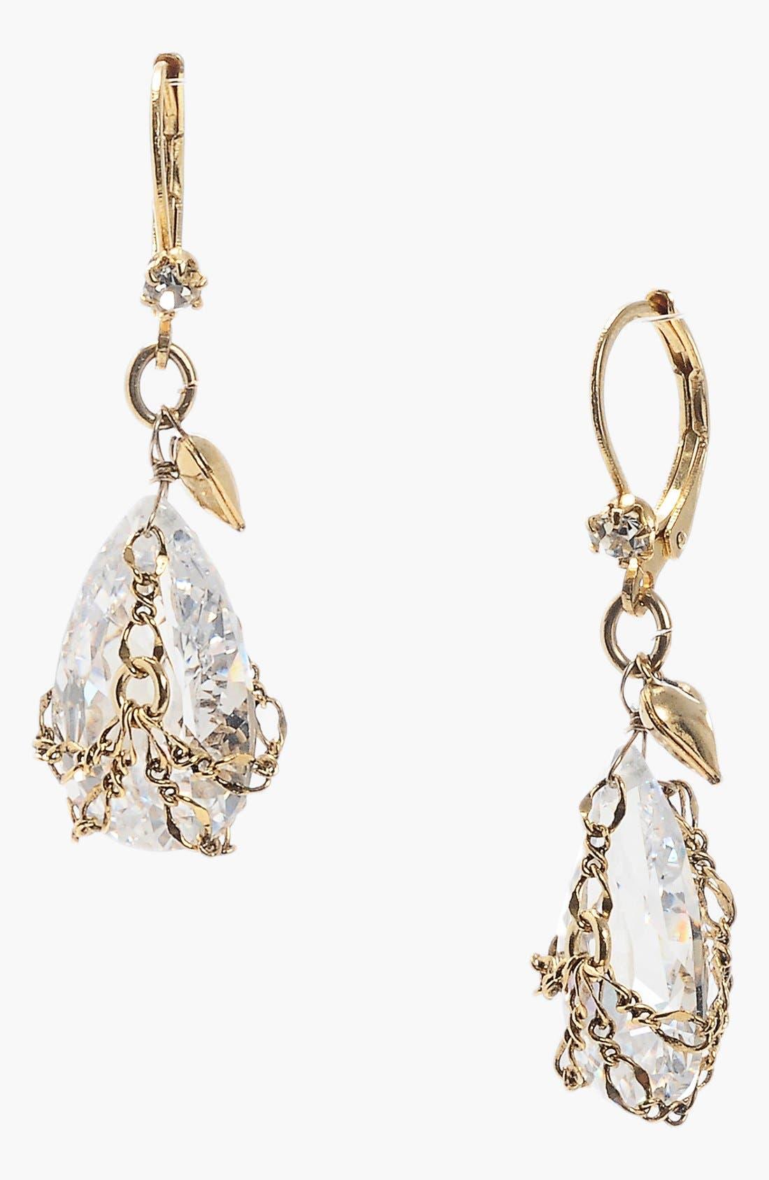 Alternate Image 1 Selected - Betsey Johnson Crystal Briolette Drop Earrings