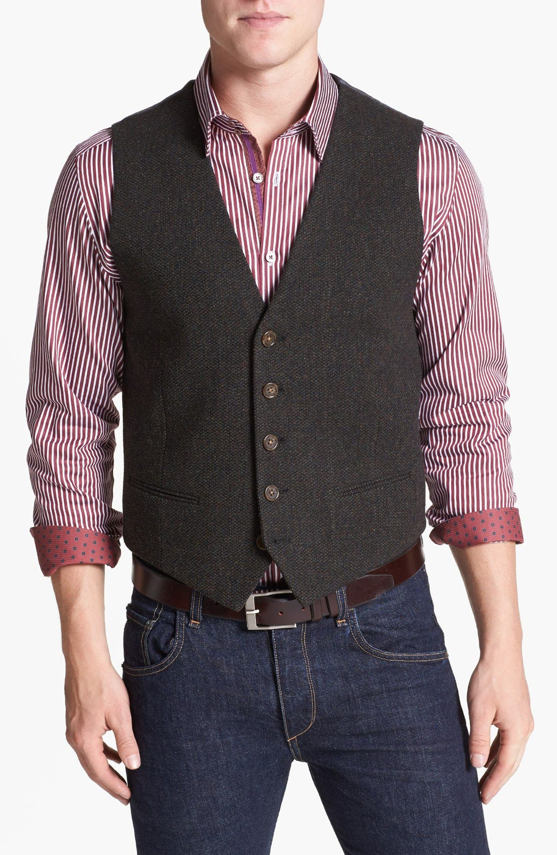 Alternate Image 1 Selected - Wallin & Bros. Trim Fit Donegal Vest