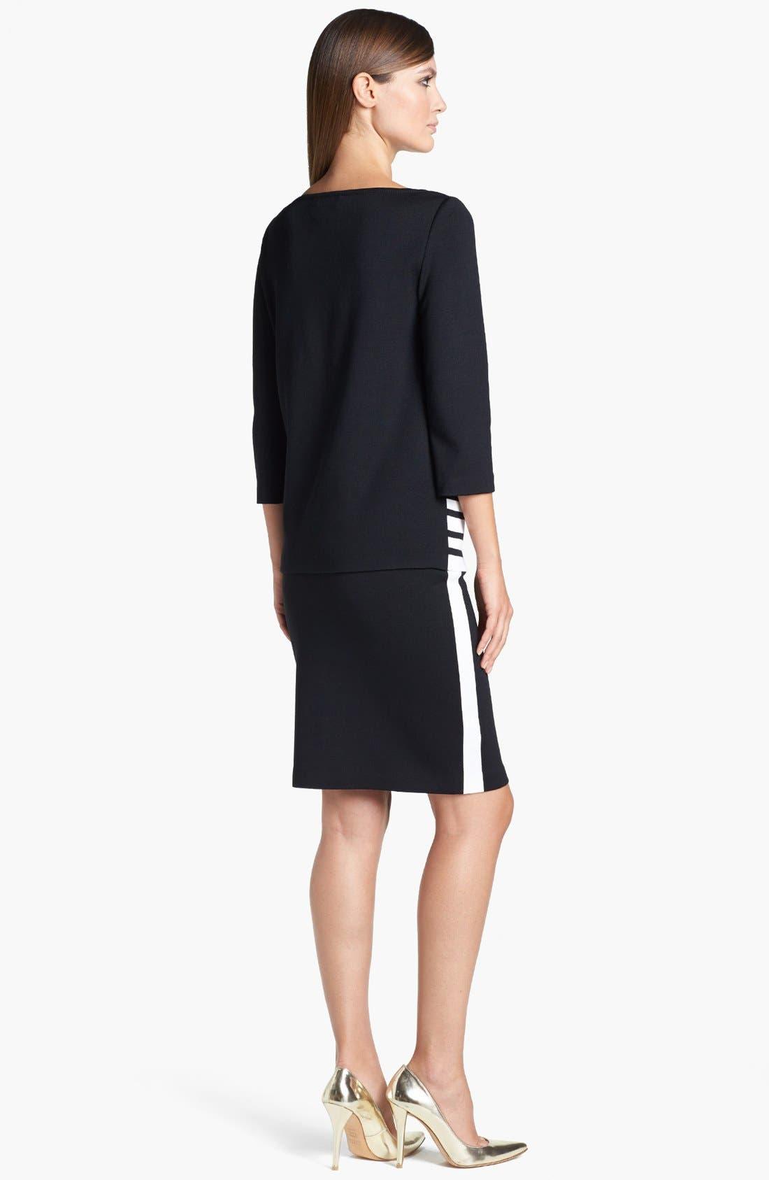 Alternate Image 3  - St. John Collection Side Stripe Milano Knit Pencil Skirt