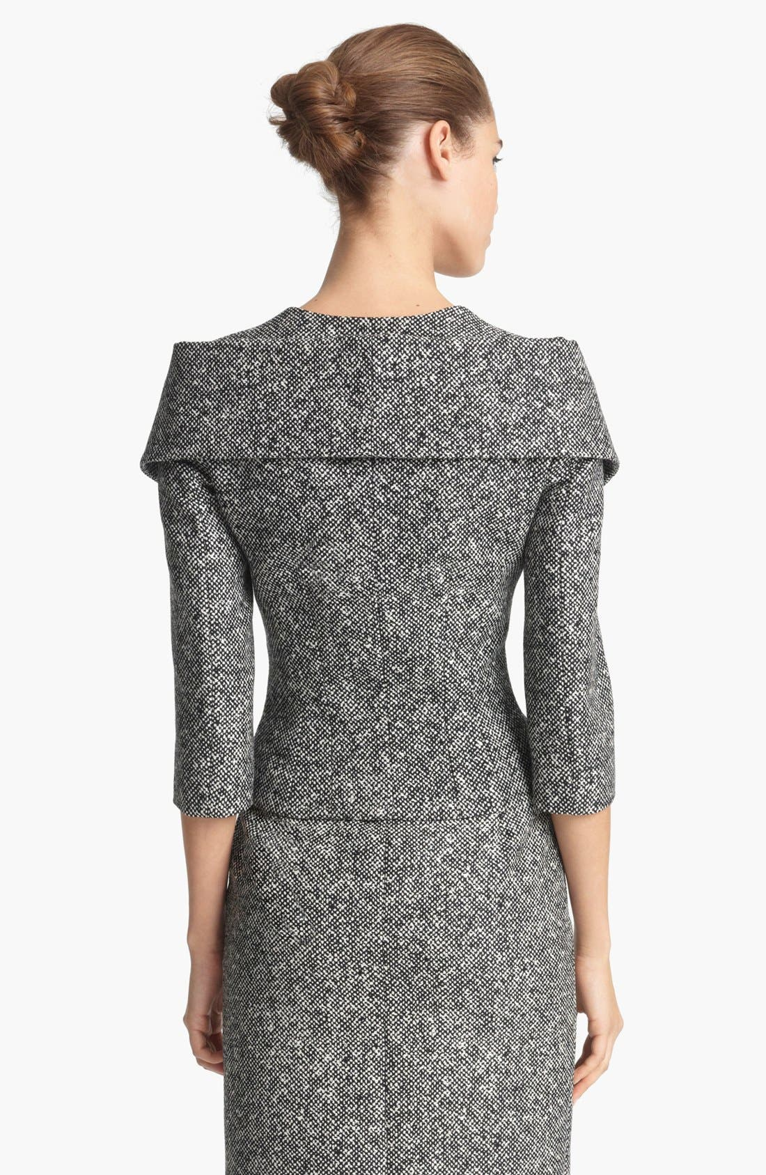 Alternate Image 3  - Michael Kors Origami Collar Tweed Jacket