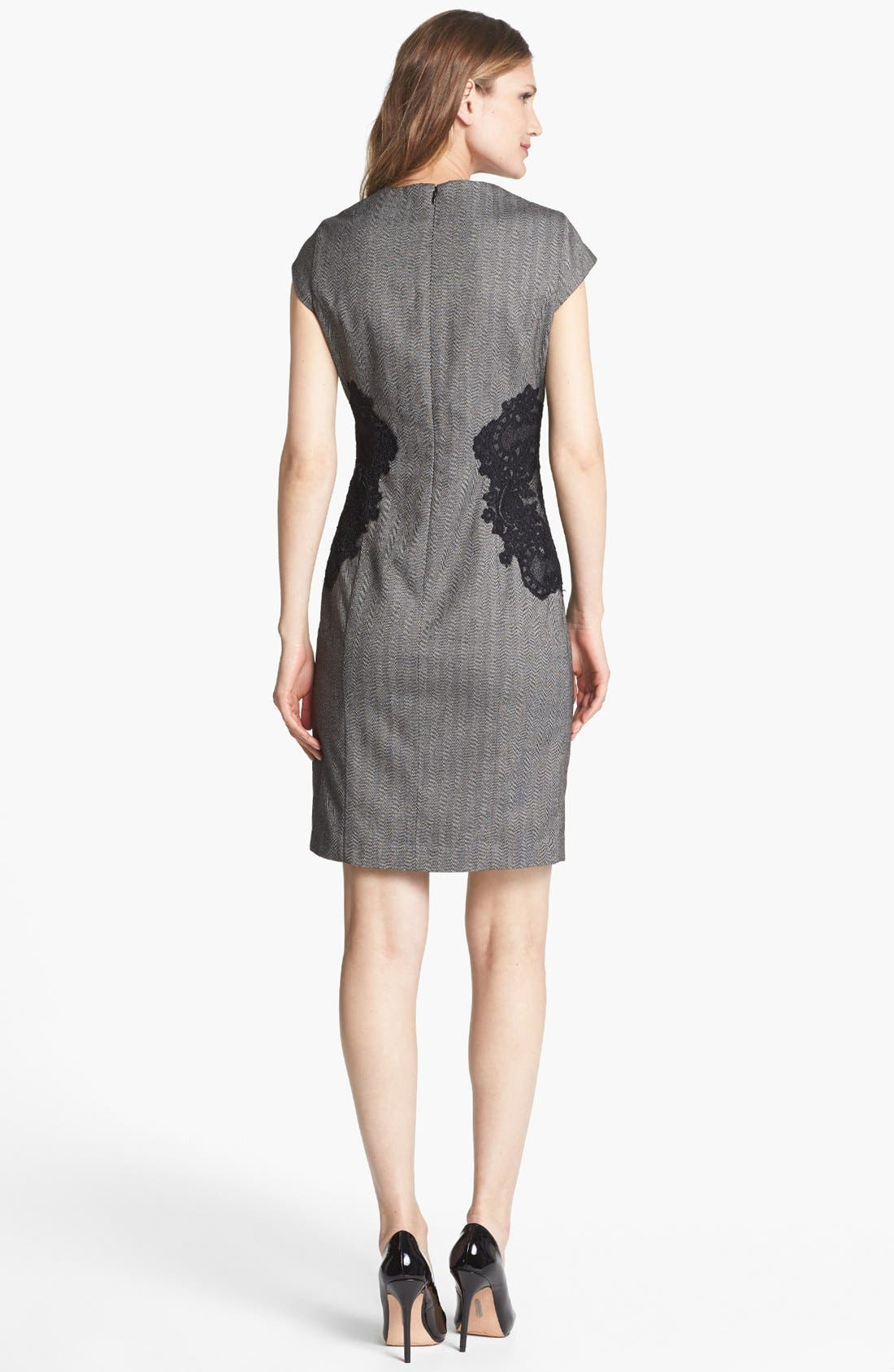 Alternate Image 2  - Adrianna Papell Lace Appliqué Sheath Dress