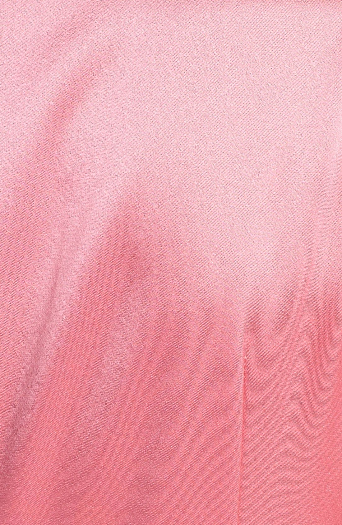 Alternate Image 3  - St. John Collection Draped Liquid Satin Gown