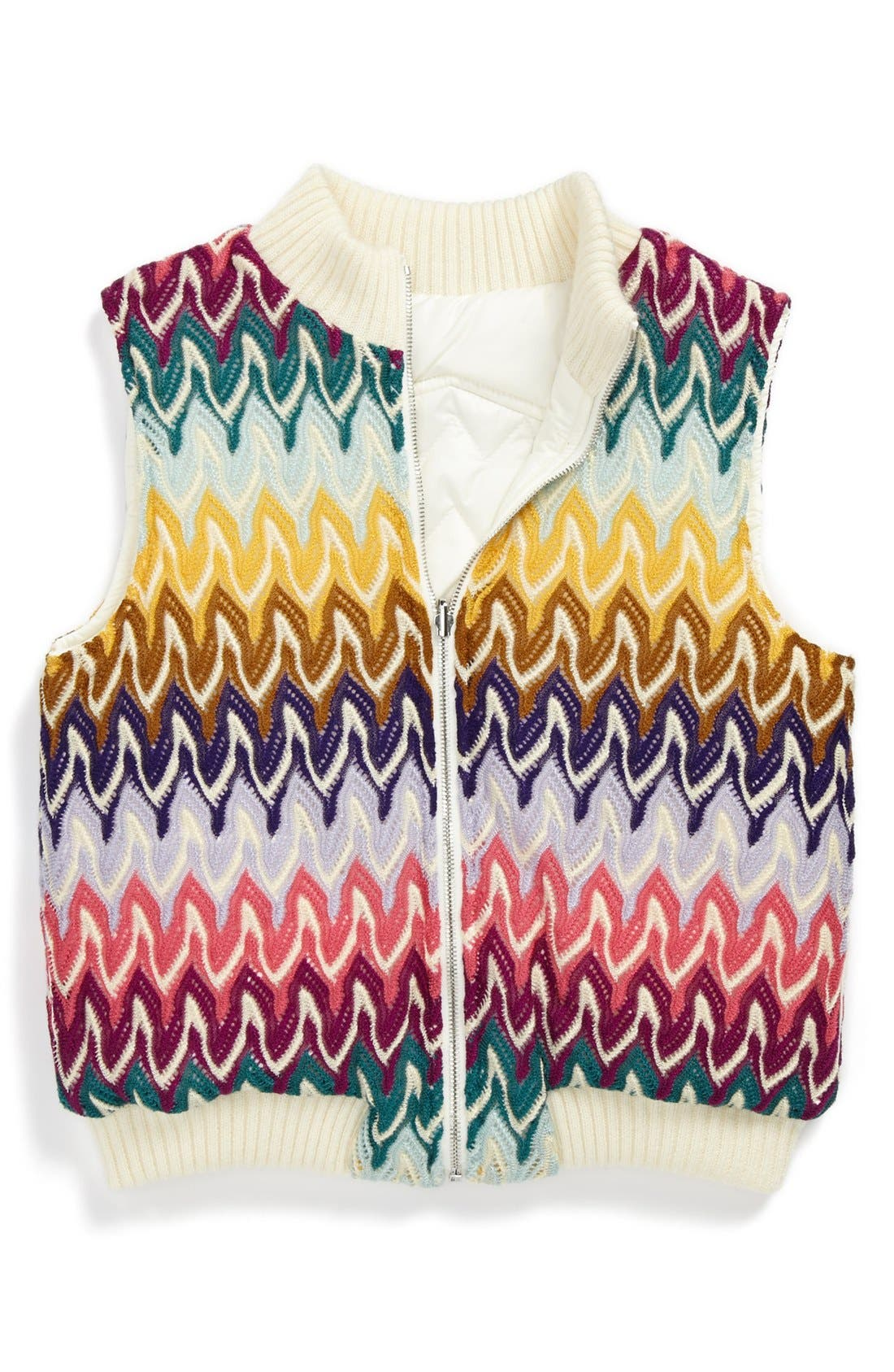Alternate Image 2  - Missoni Reversible Vest (Toddler Girls, Little Girls & Big Girls)