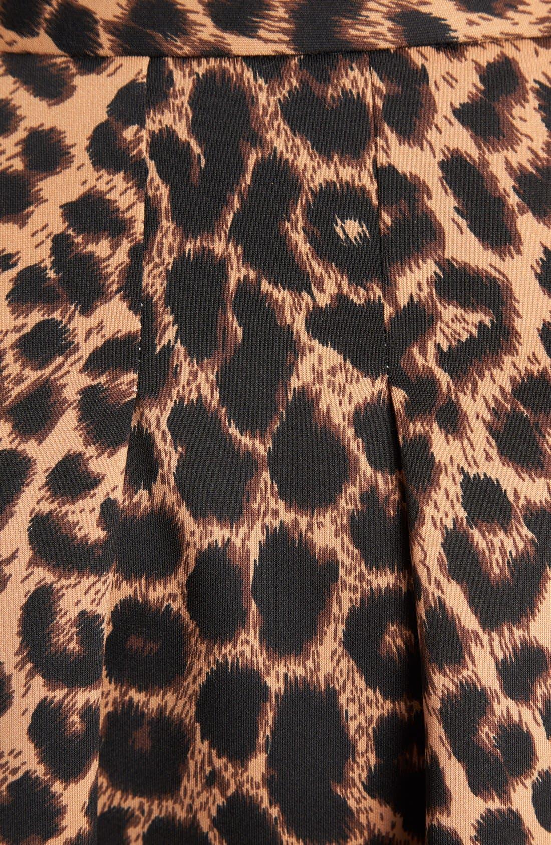 Alternate Image 3  - Mural Leopard Print Skater Skirt