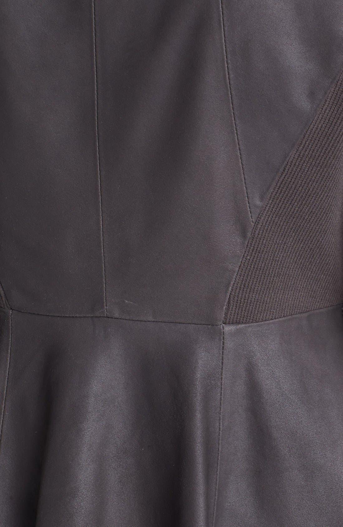 Alternate Image 3  - Elie Tahari 'Constance' Peplum Back Leather Jacket