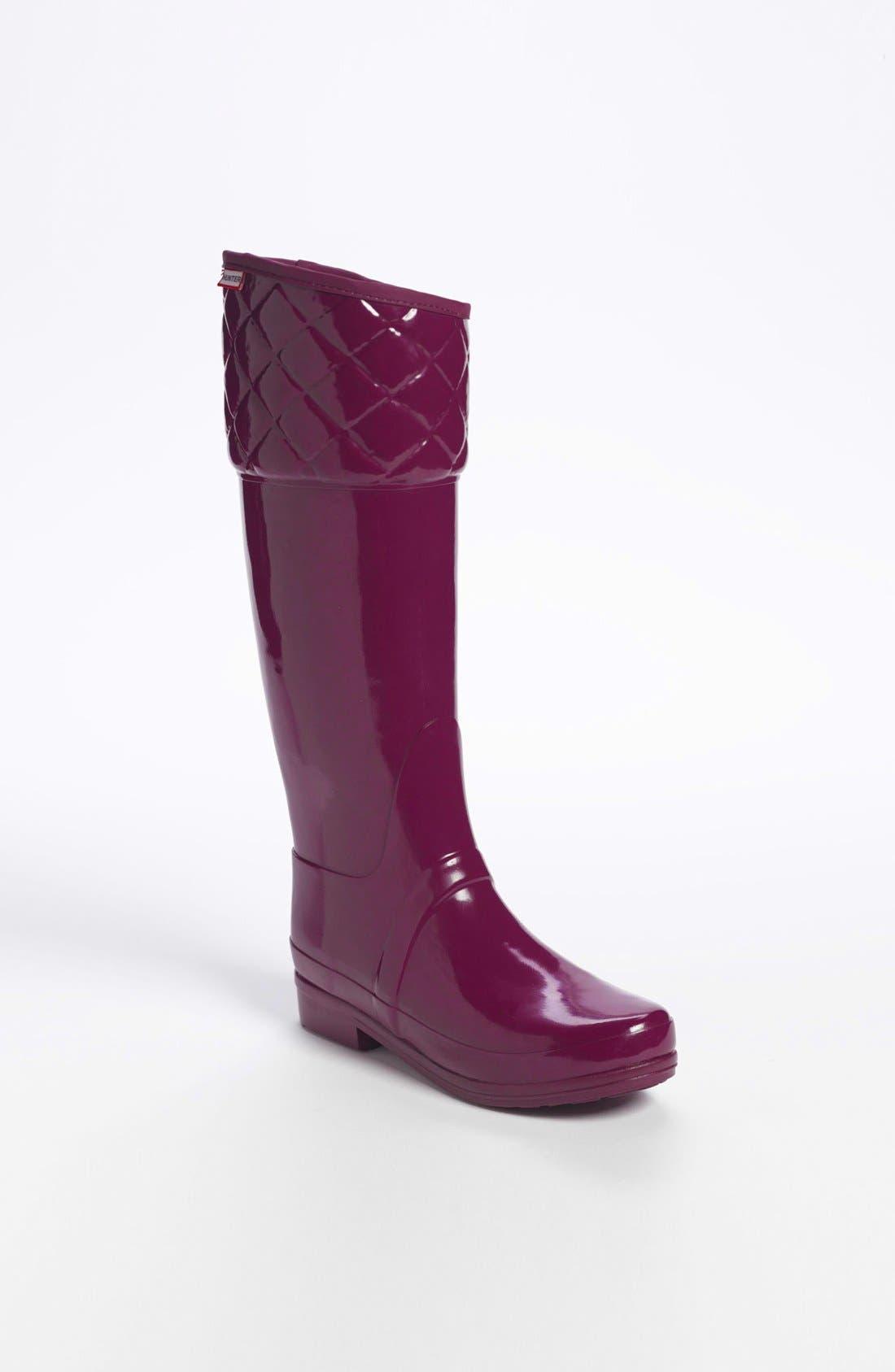 'Rigley' Rain Boot,                             Main thumbnail 1, color,                             Dark Ruby