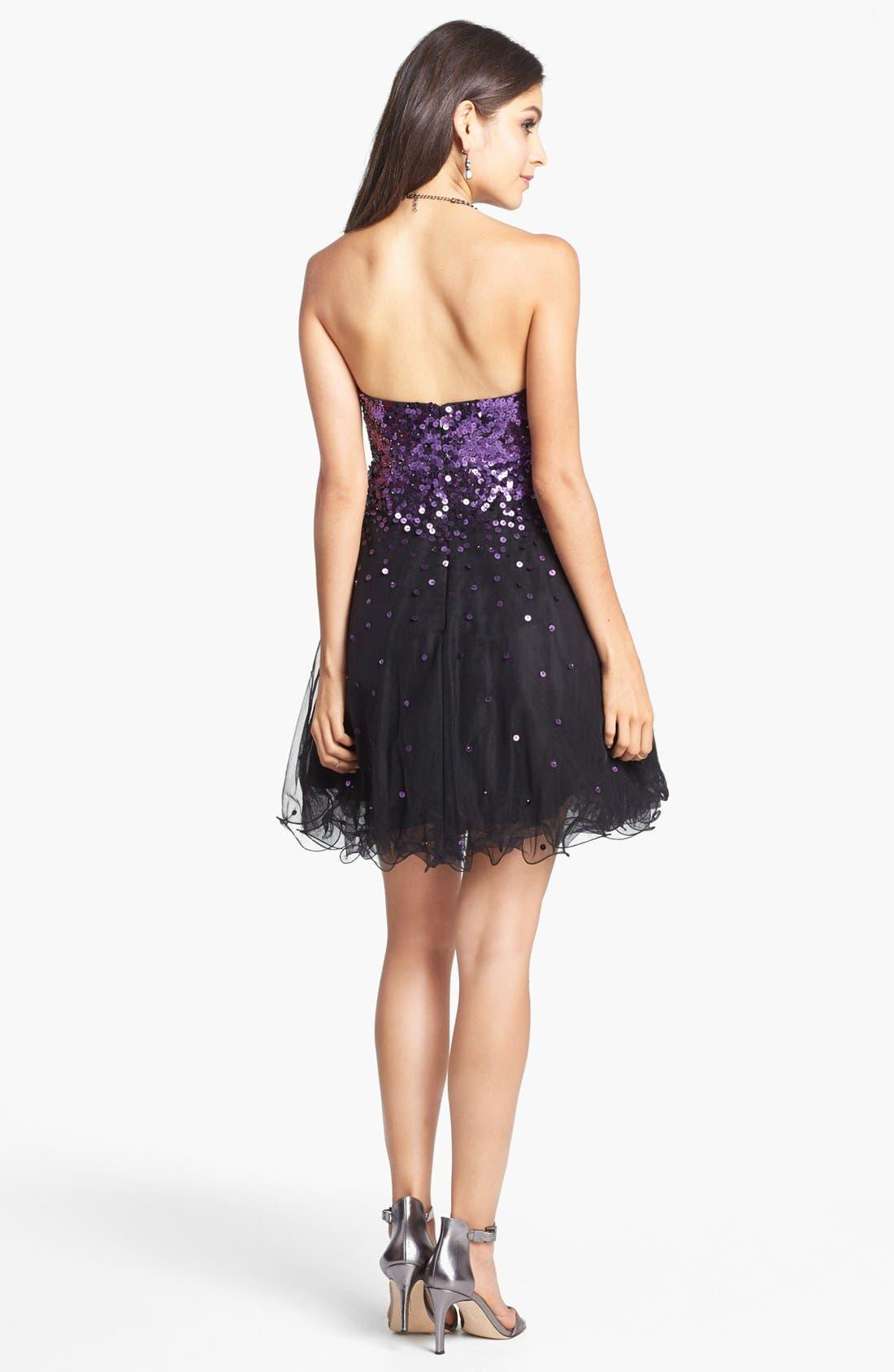 Alternate Image 2  - Sean Collection Embellished Tulle Fit & Flare Dress