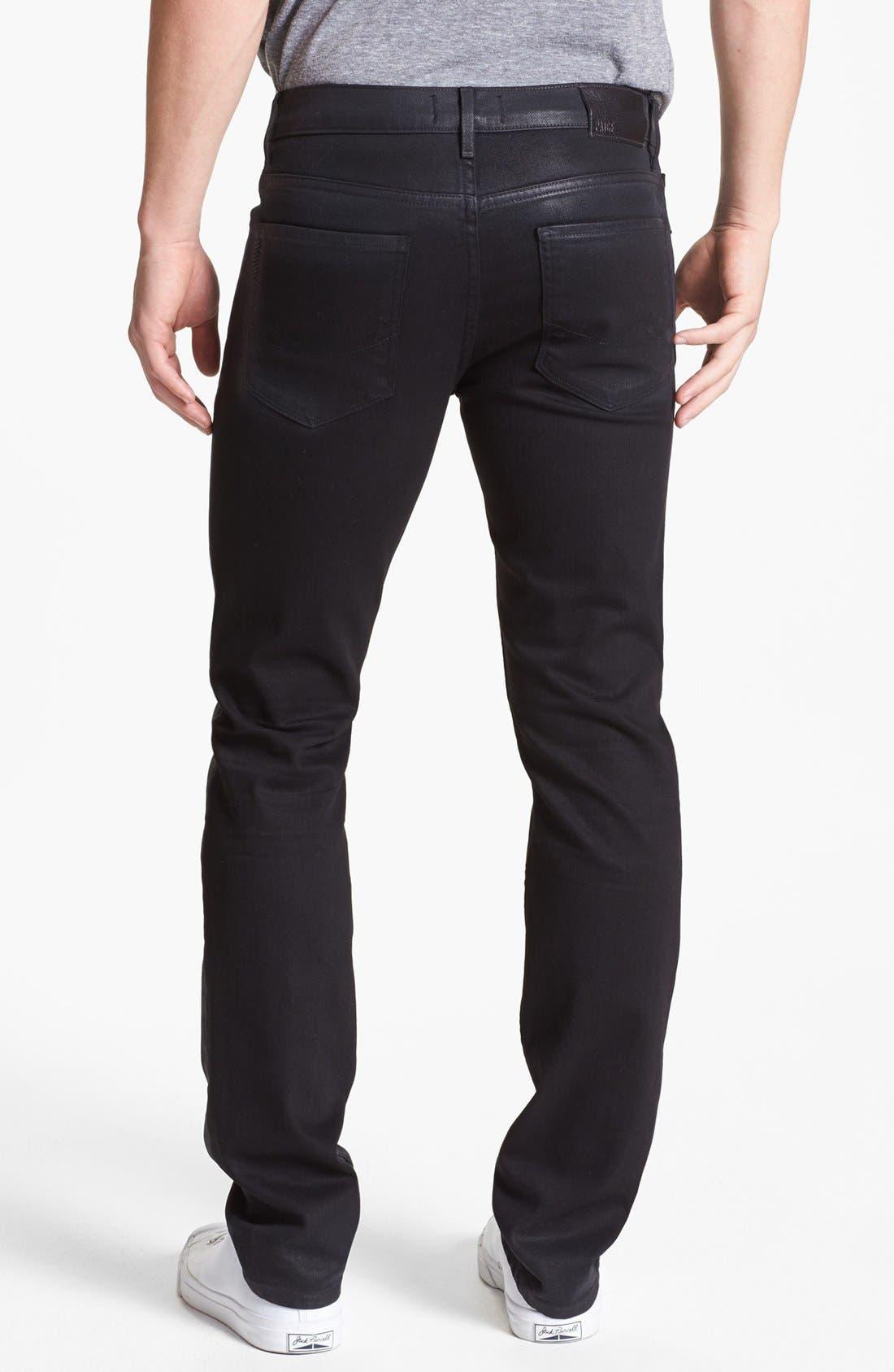 Main Image - PAIGE 'Federal' Coated Slim Fit Jeans (Oil Slick)