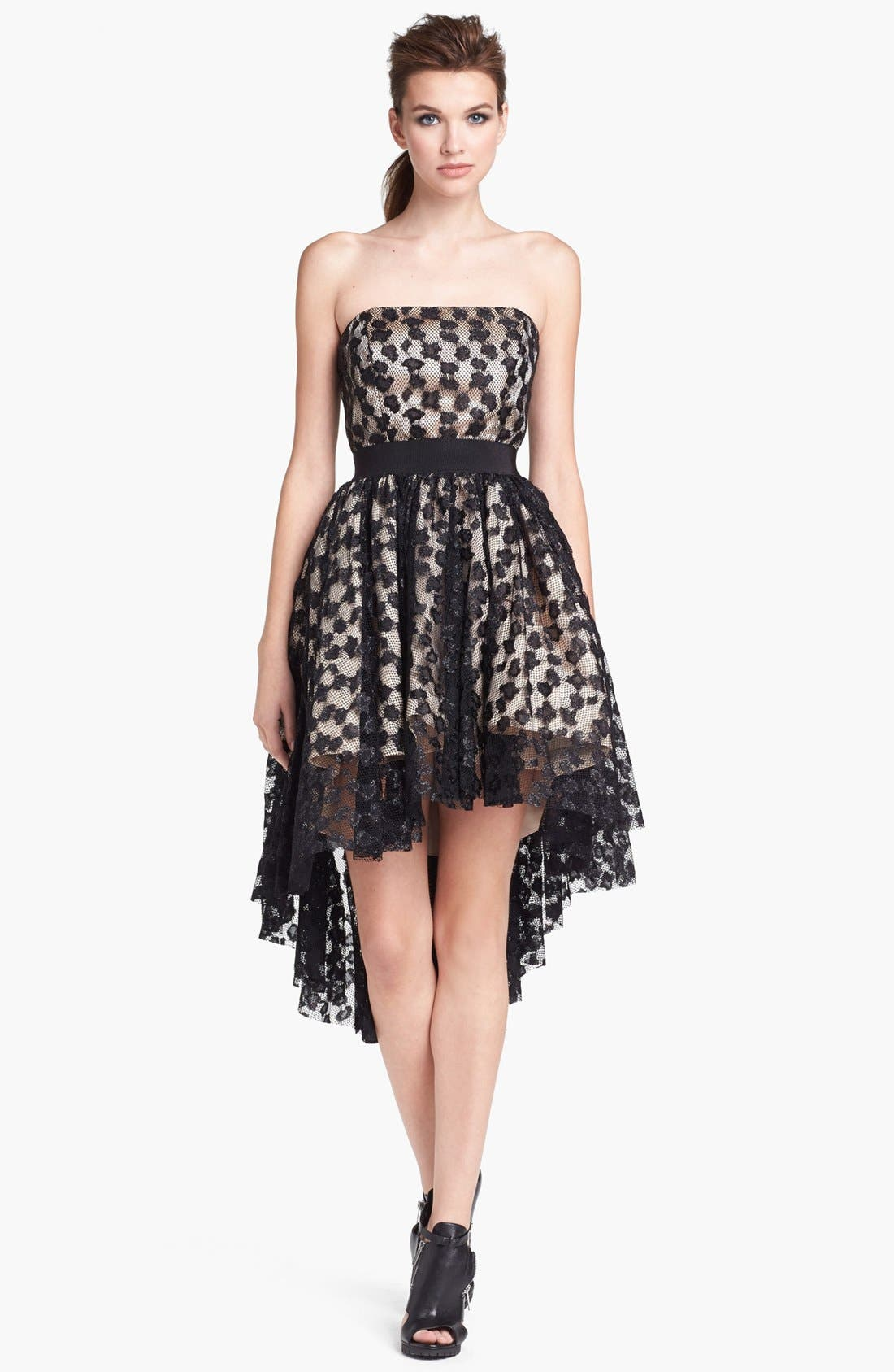 Main Image - Milly Lace Fit & Flare Dress