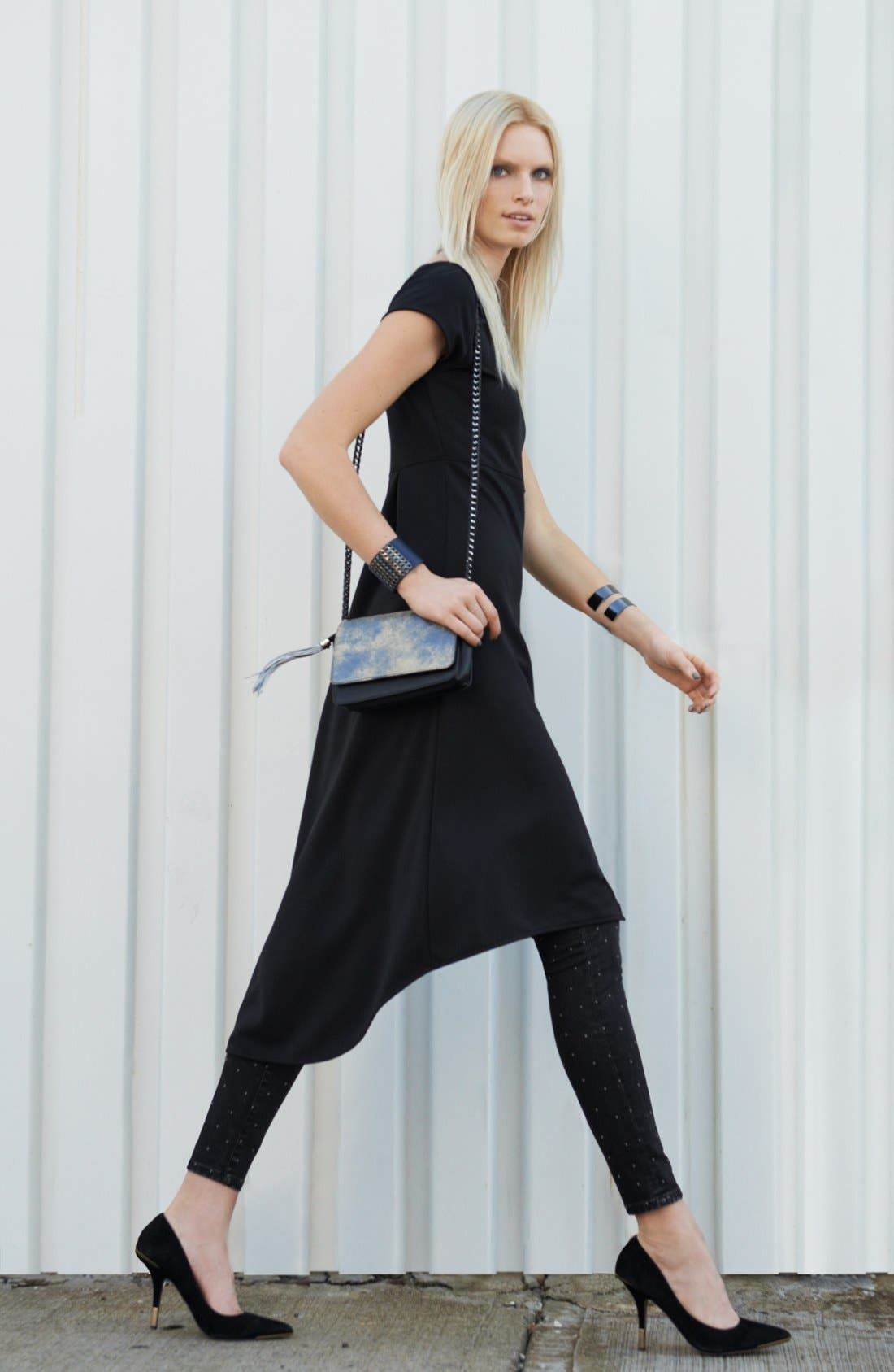 Main Image - Leith Tunic & BLANKNYC Skinny Jeans