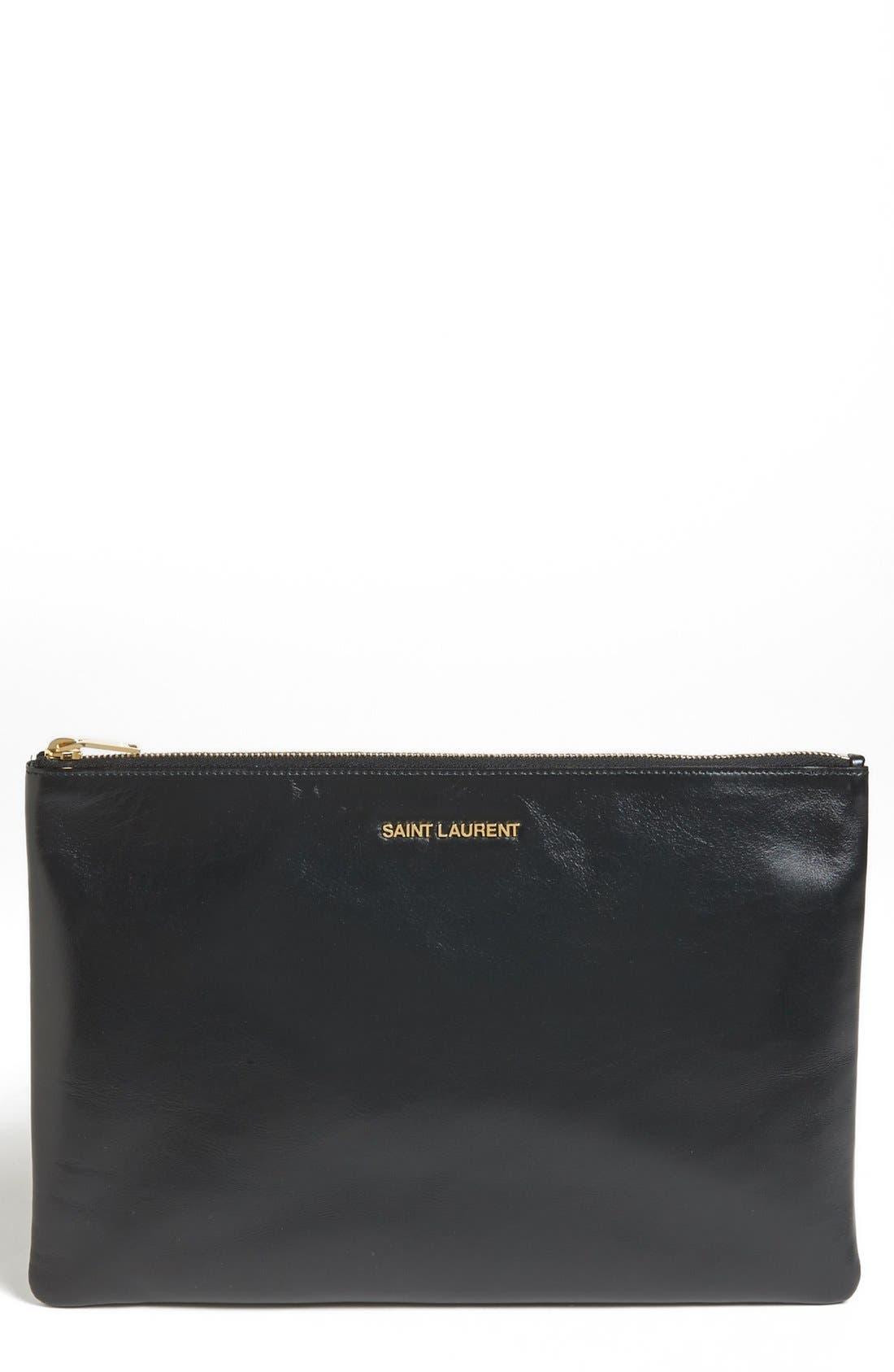 Main Image - Saint Laurent Leather Clutch