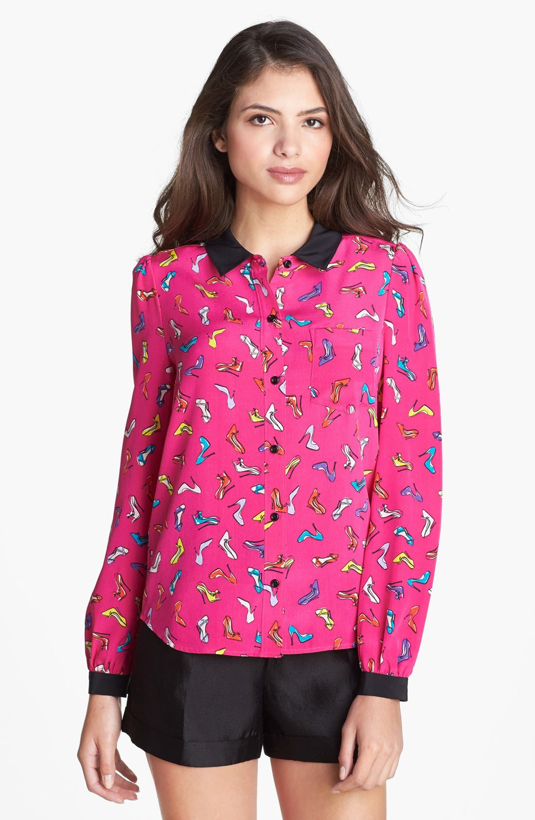 Alternate Image 1 Selected - kate spade new york 'lorelle' print silk shirt