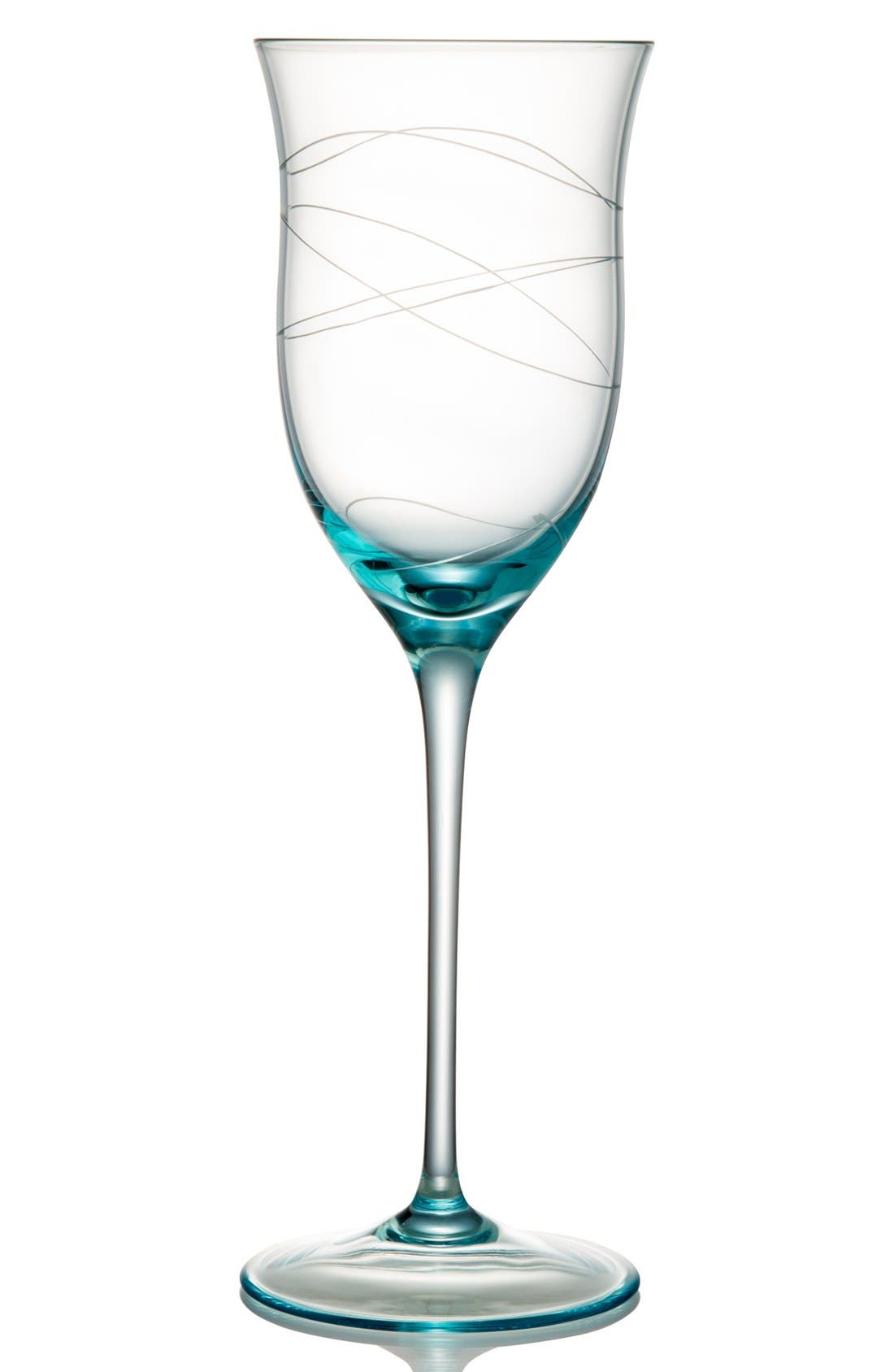 Alternate Image 1 Selected - Nambé 'Motus -  Blue' Wine Glasses (Set of 2)