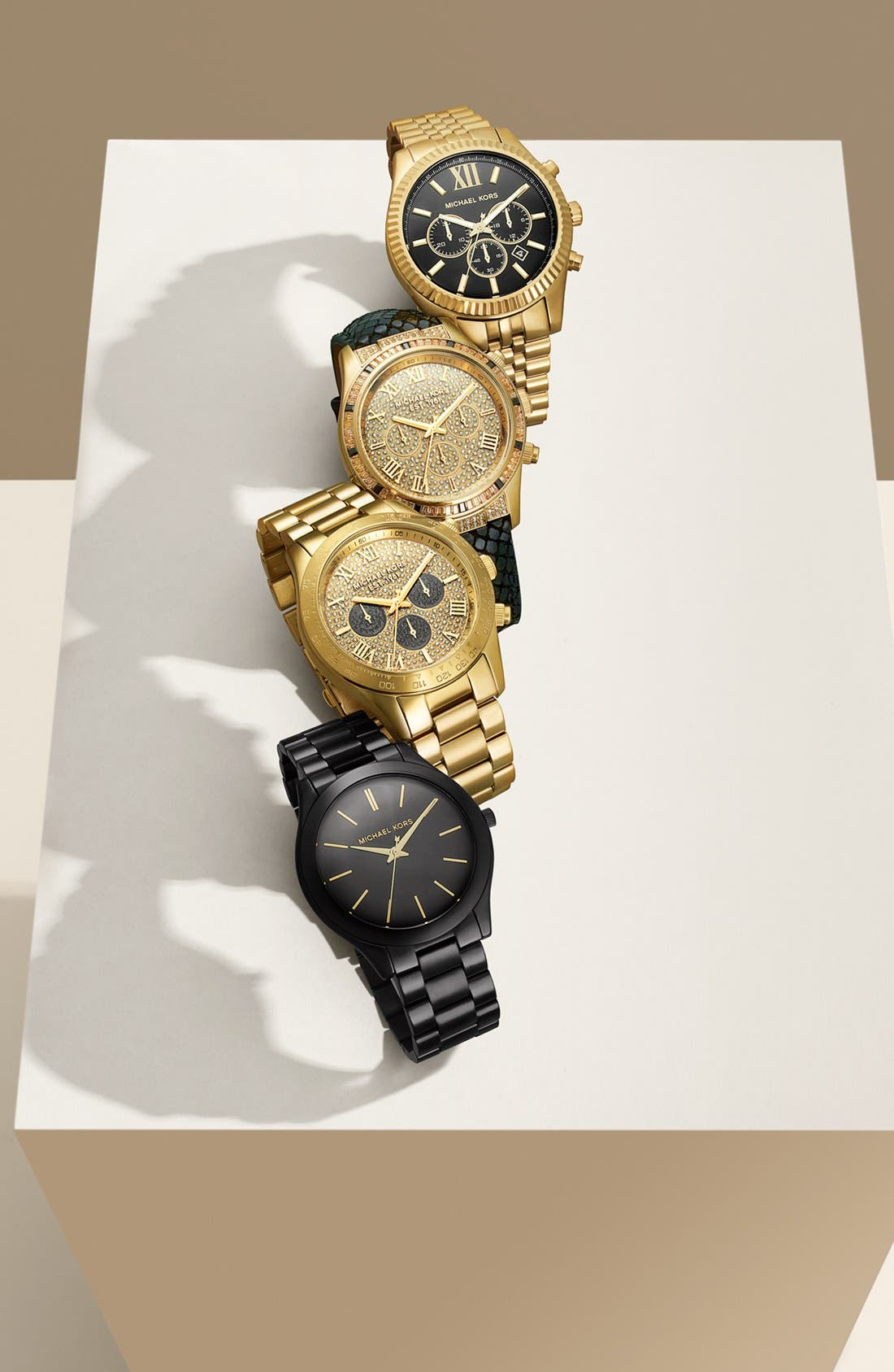 Alternate Image 4  - Michael Kors 'Layton' Pavé Dial Bracelet Watch, 44mm