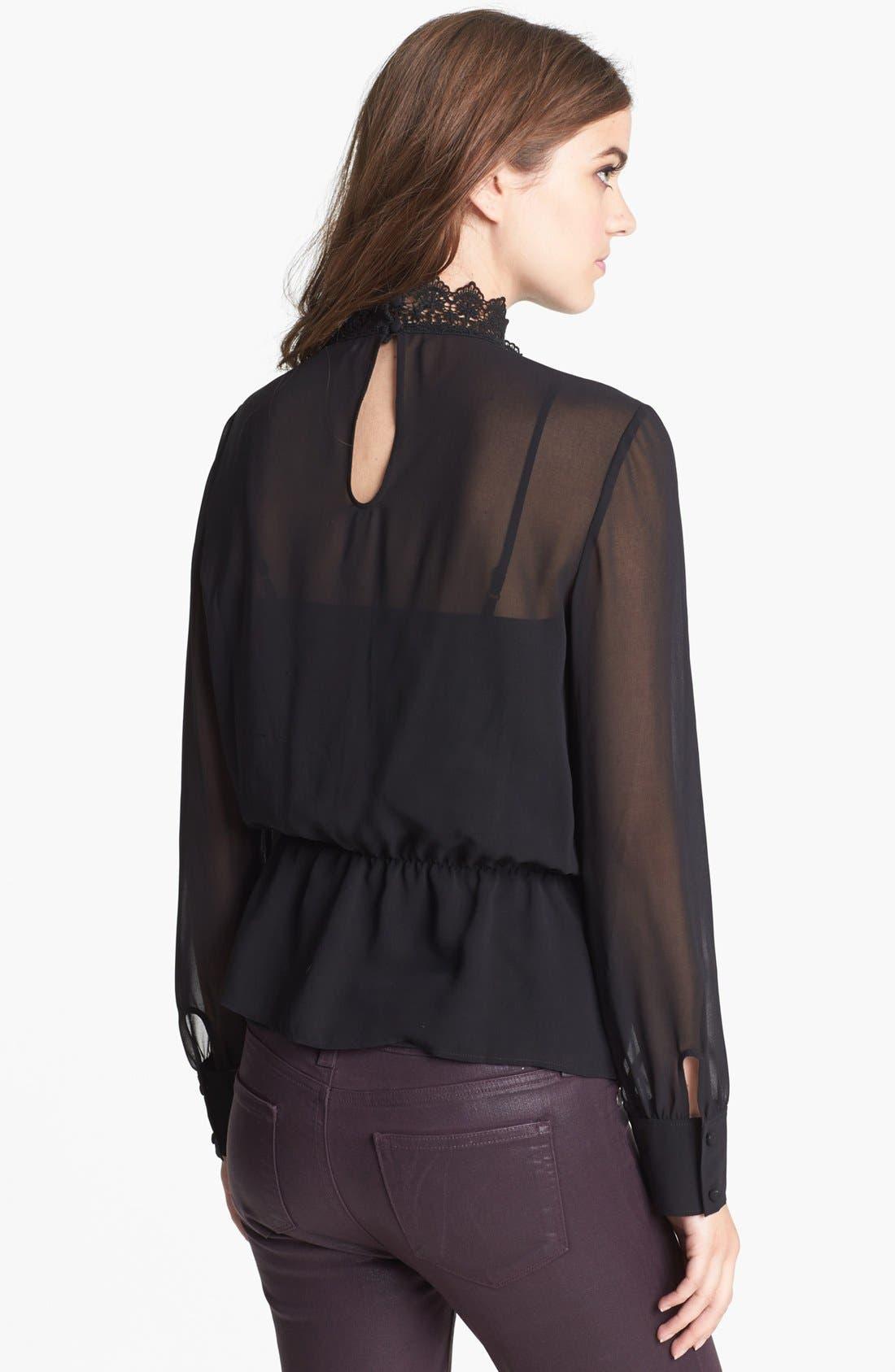 Alternate Image 2  - Hinge® Lace Mock Neck Sheer Top
