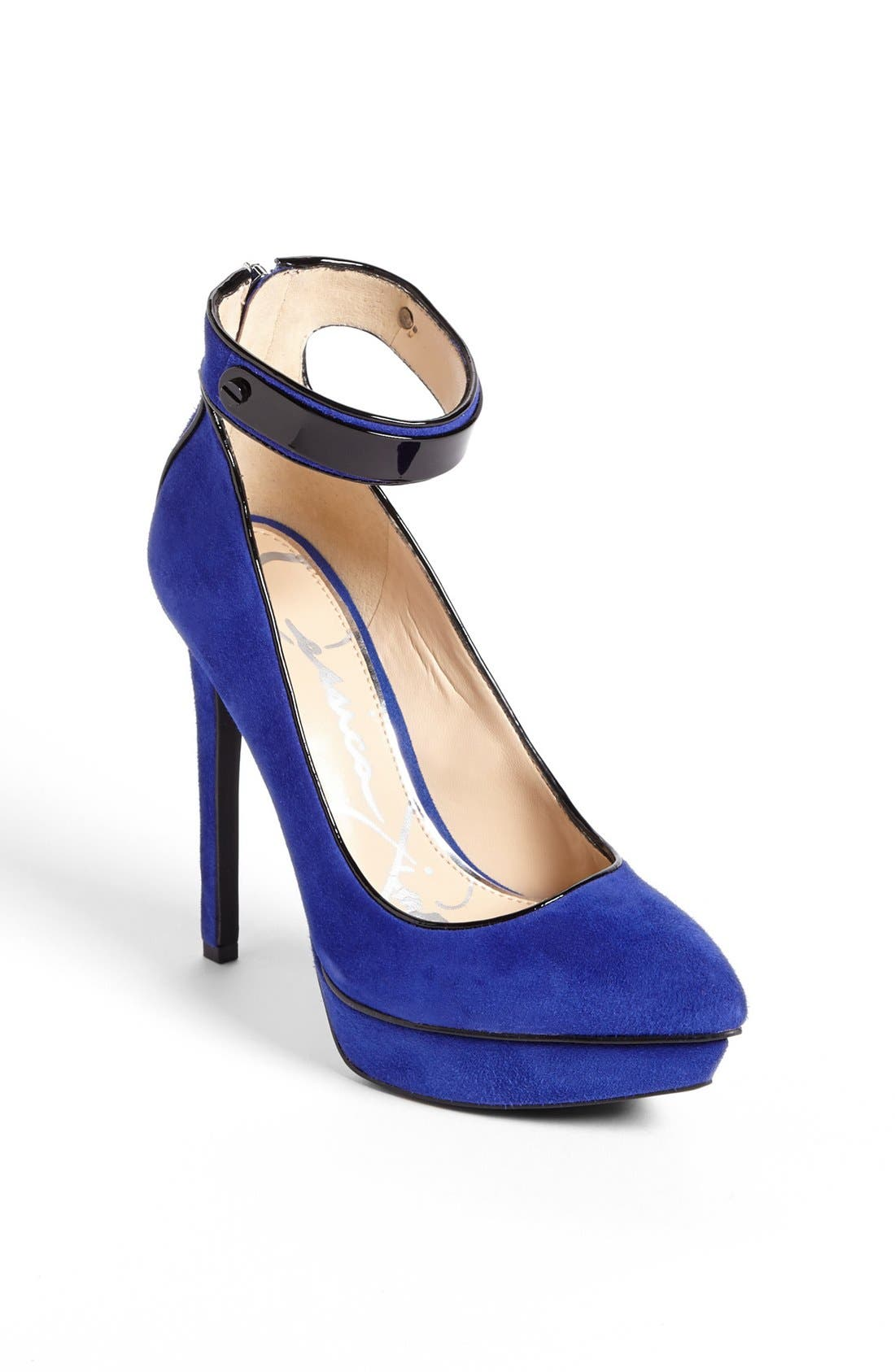 Alternate Image 1 Selected - Jessica Simpson 'Violla' Ankle Strap Pointy Toe Pump