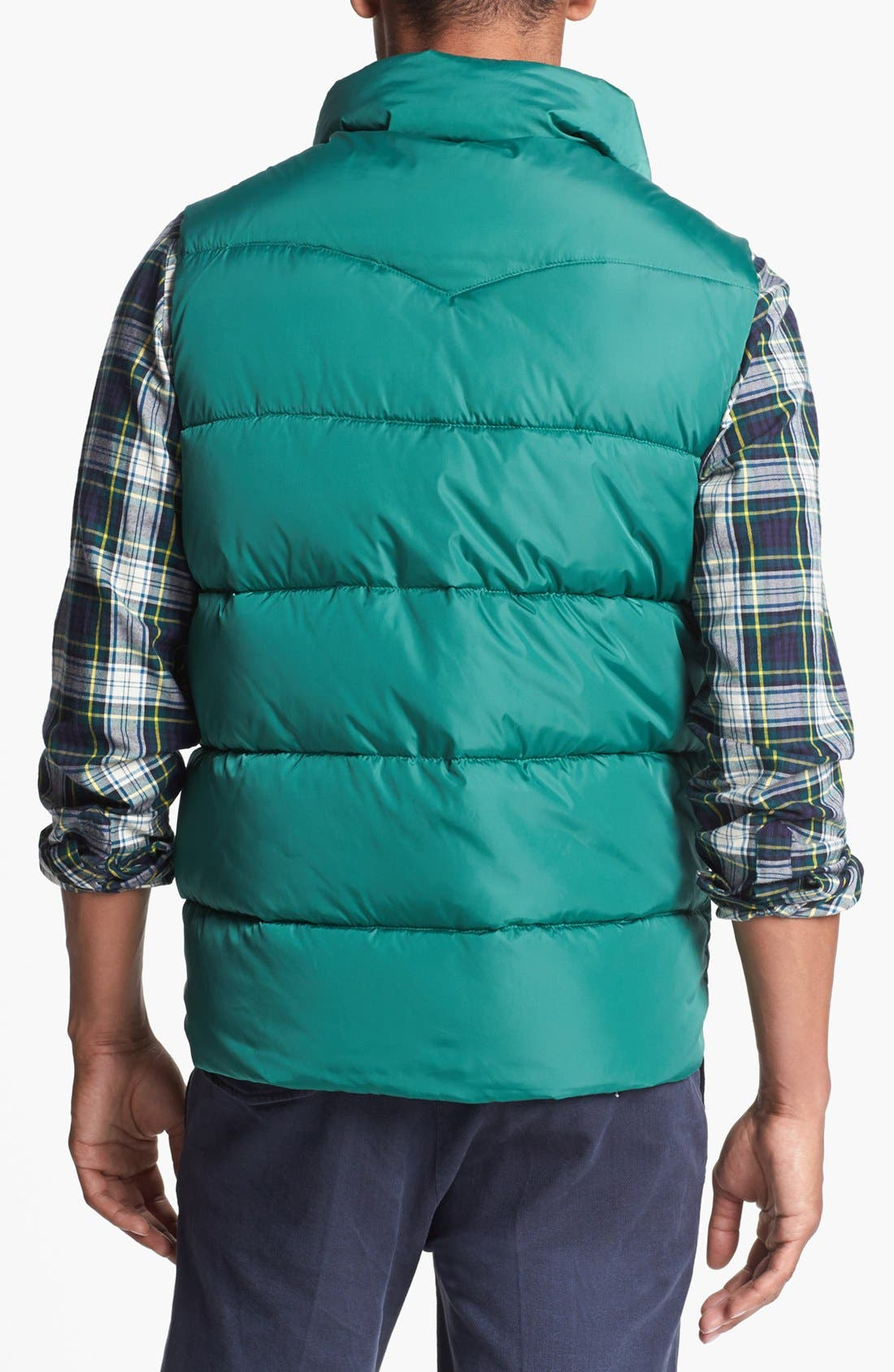 Reversible Quilted Vest,                             Alternate thumbnail 2, color,                             Medium Green