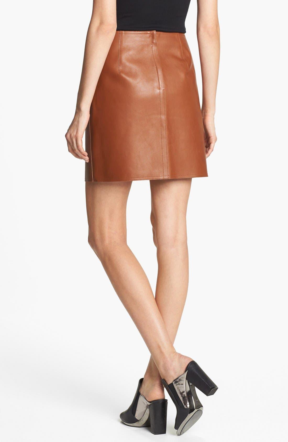 Alternate Image 2  - 3.1 Phillip Lim Leather Miniskirt