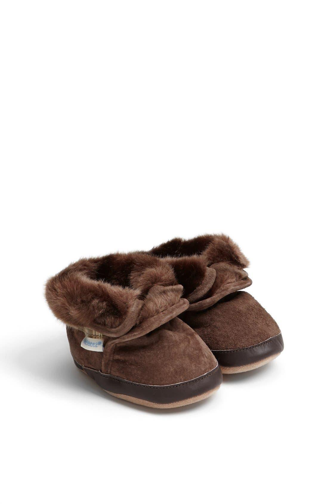 Robeez® 'Cozy' Ankle Bootie (Baby & Walker)
