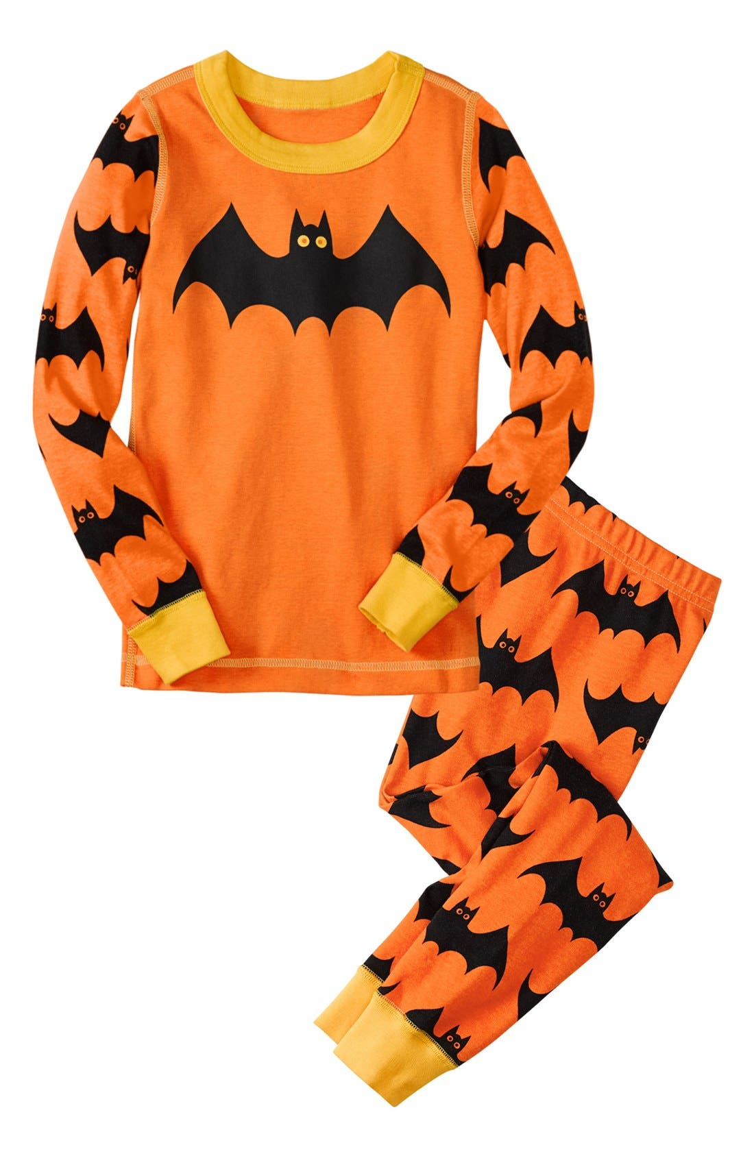 Main Image - Hanna Andersson 'Halloween' Fitted Two Piece Fitted Pajamas (Toddler)