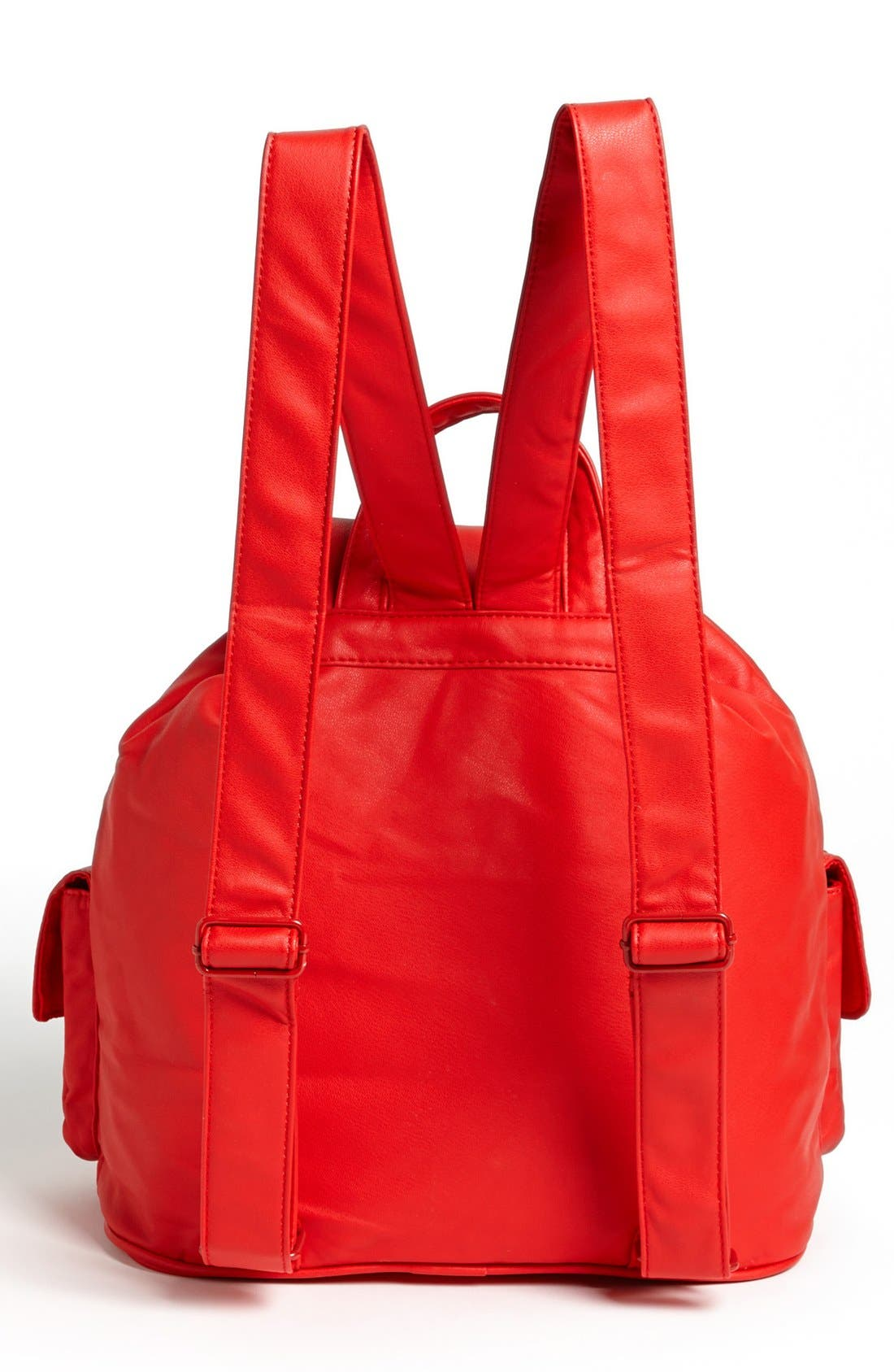 Alternate Image 4  - Cesca Enameled Studded Faux Leather Backpack (Juniors) (Online Only)